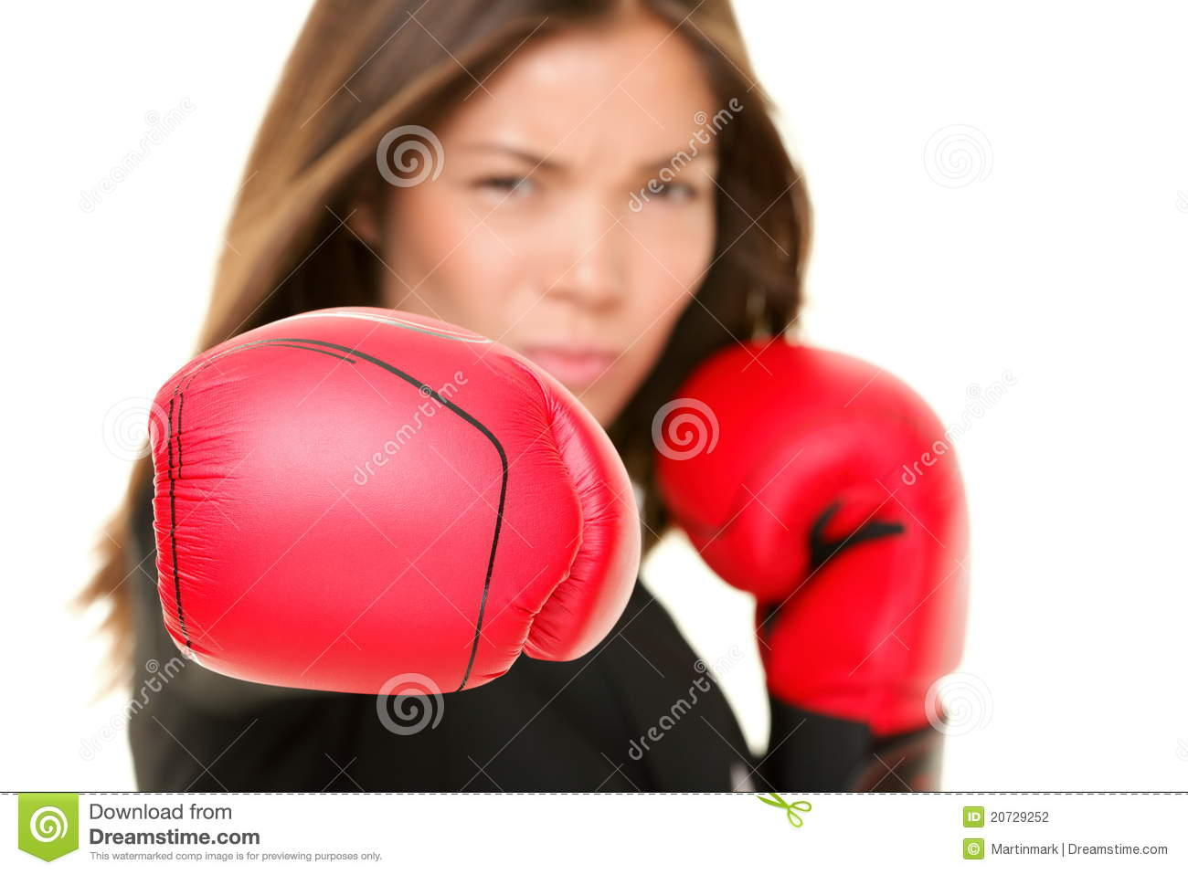 Boxing business woman