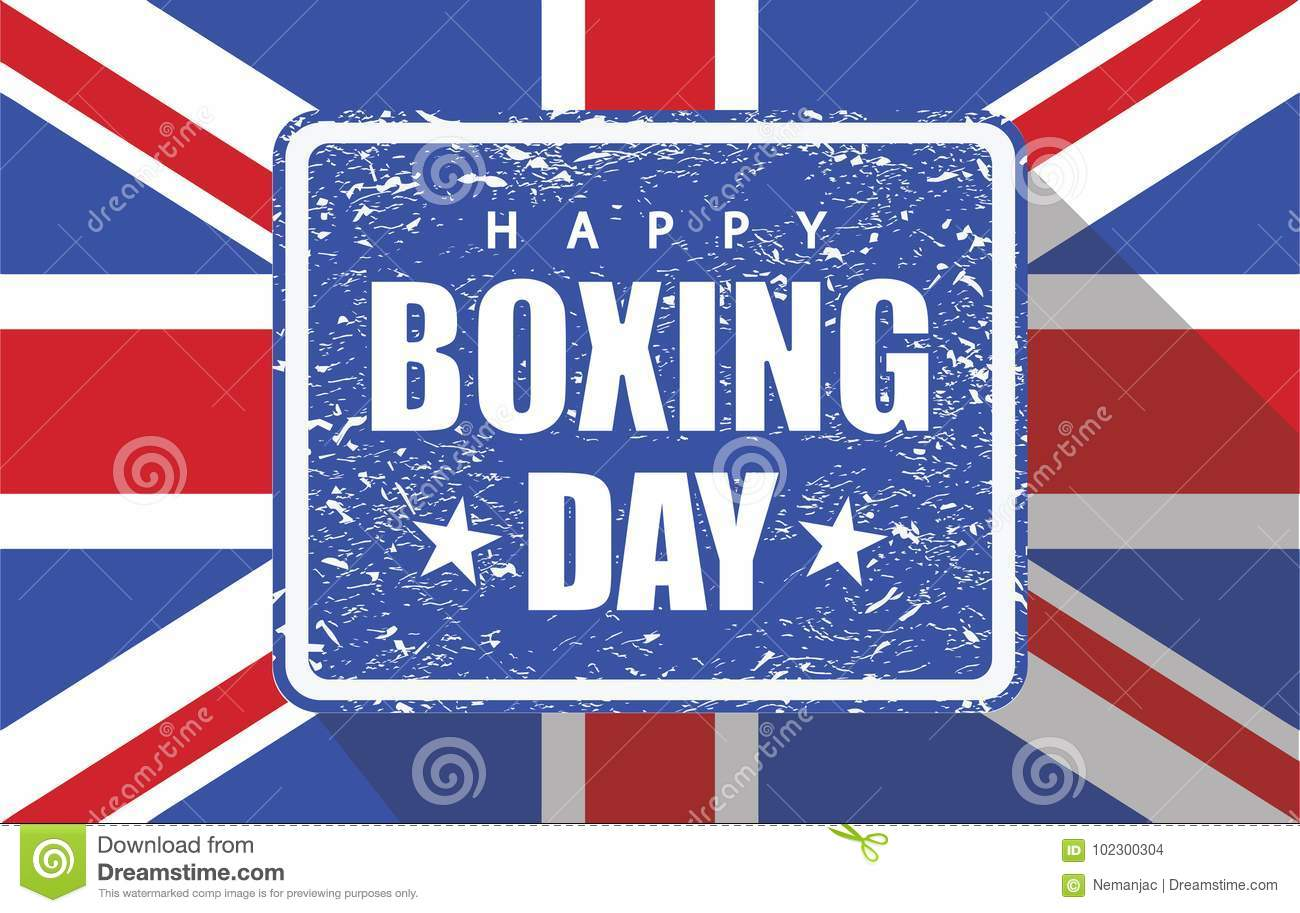 Boxing Day Rubber Stamp With Uk Flag Stock Vector - Illustration of  distress, banner: 102300304