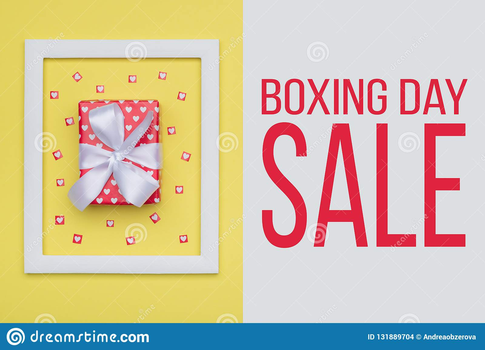 Boxing Day Sale backdrop. Festive winter holidays Christmas Sale background.