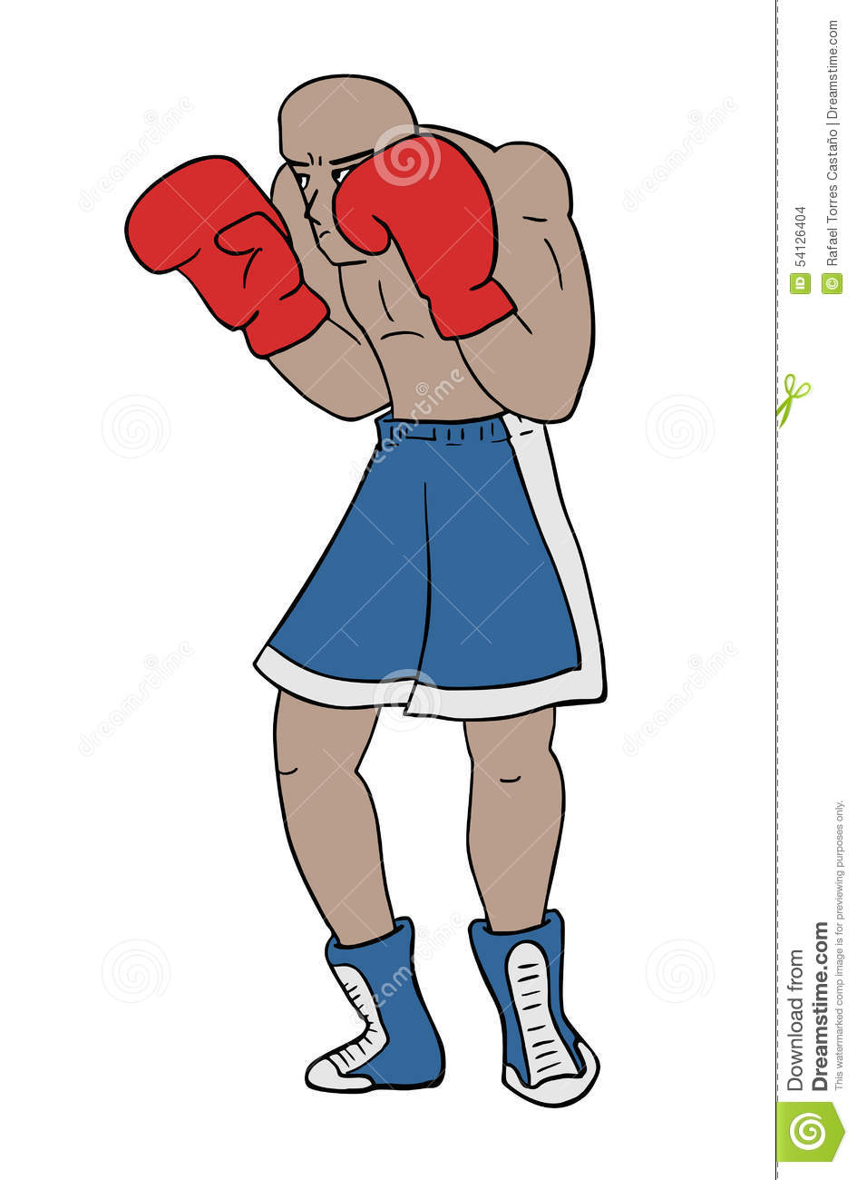 Boxing Draw Stock Vector Illustration Of Fitness Fighter 54126404