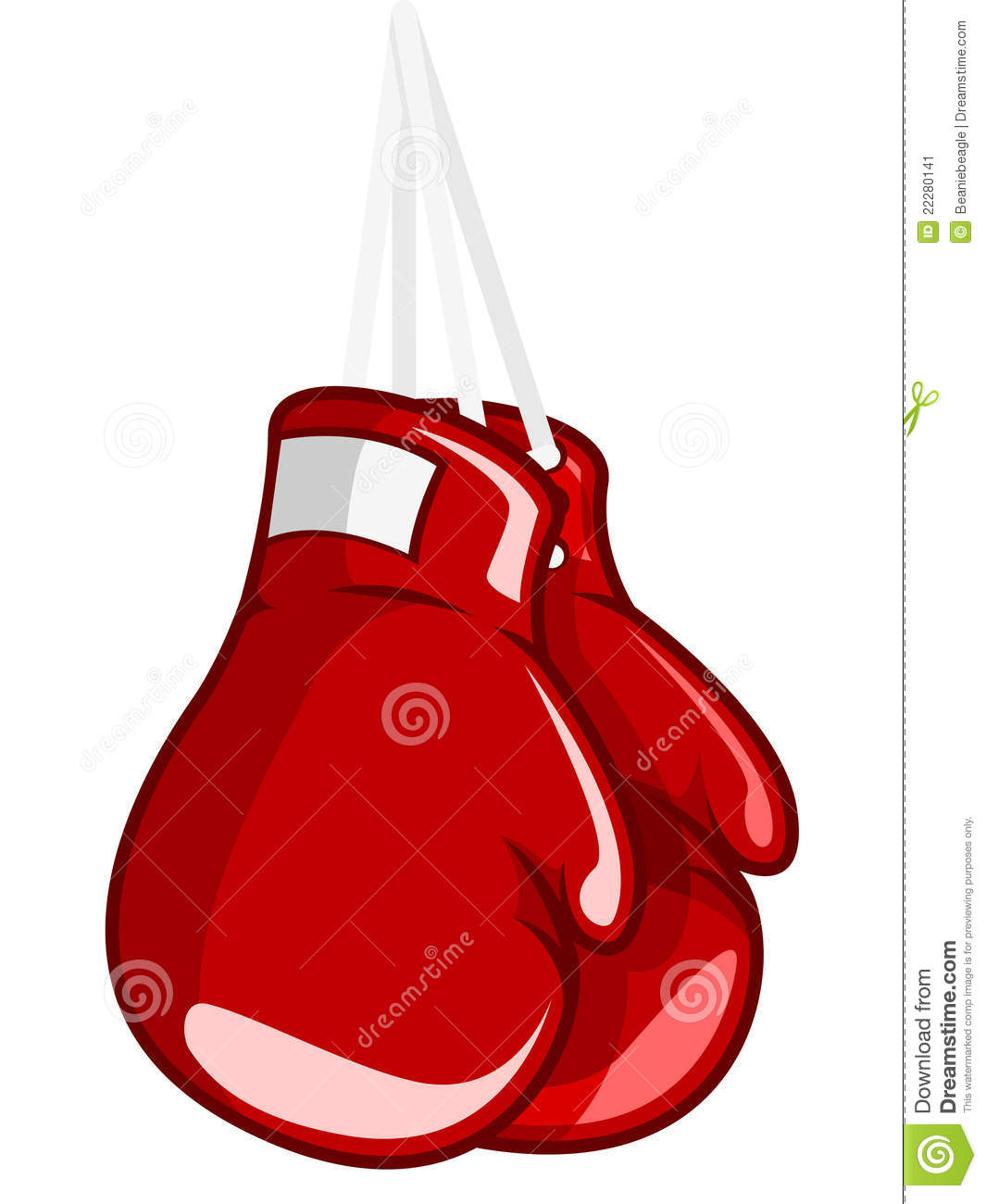 An illustration of a pair of hung up boxing gloves.