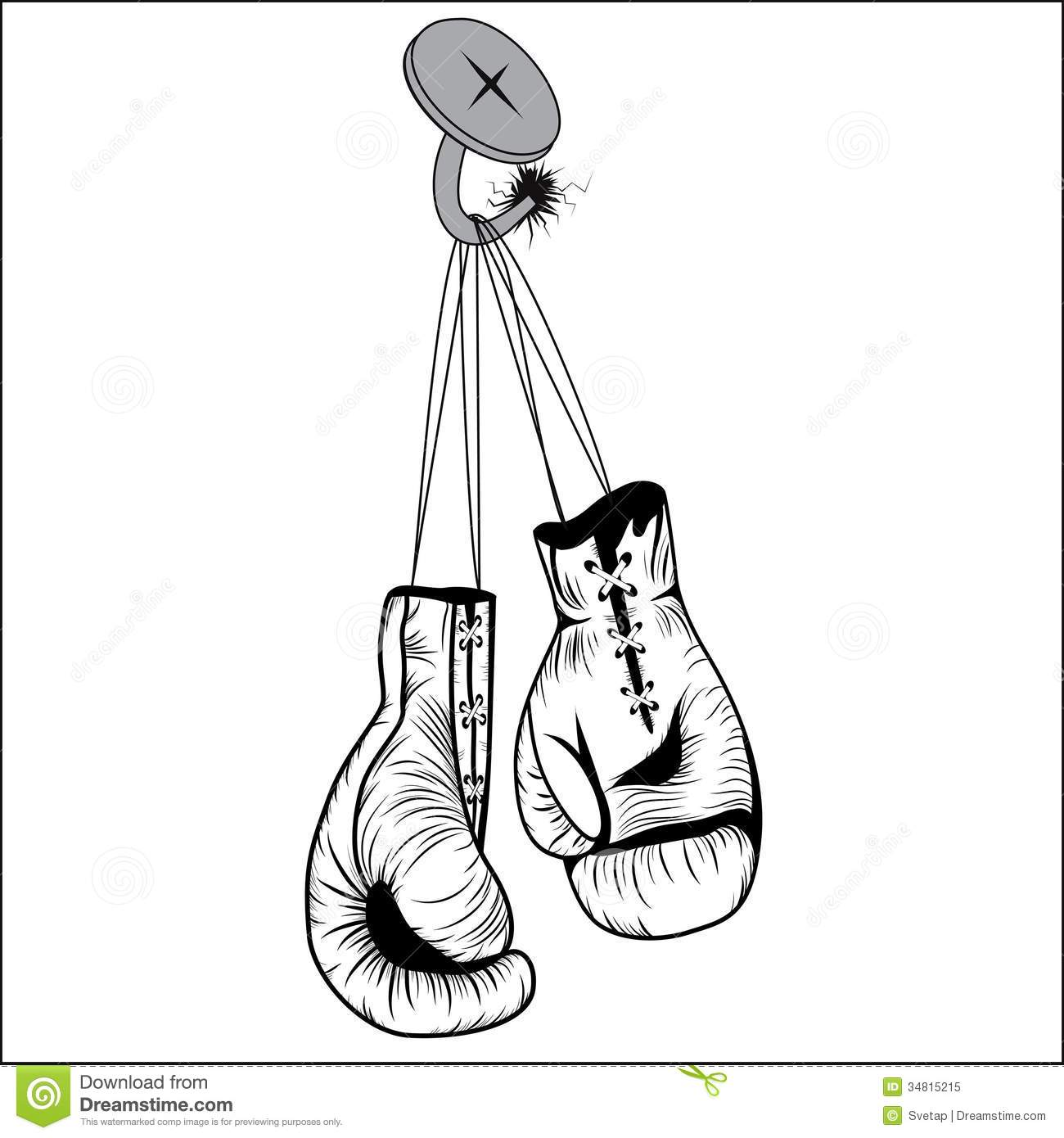 Boxing Gloves Stock Vector Illustration Of Clipart Extreme 34815215