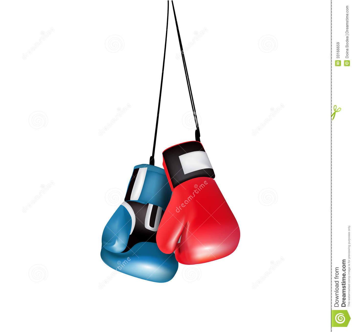 boxing gloves hanging isolated royalty free stock images image 33166659. Black Bedroom Furniture Sets. Home Design Ideas