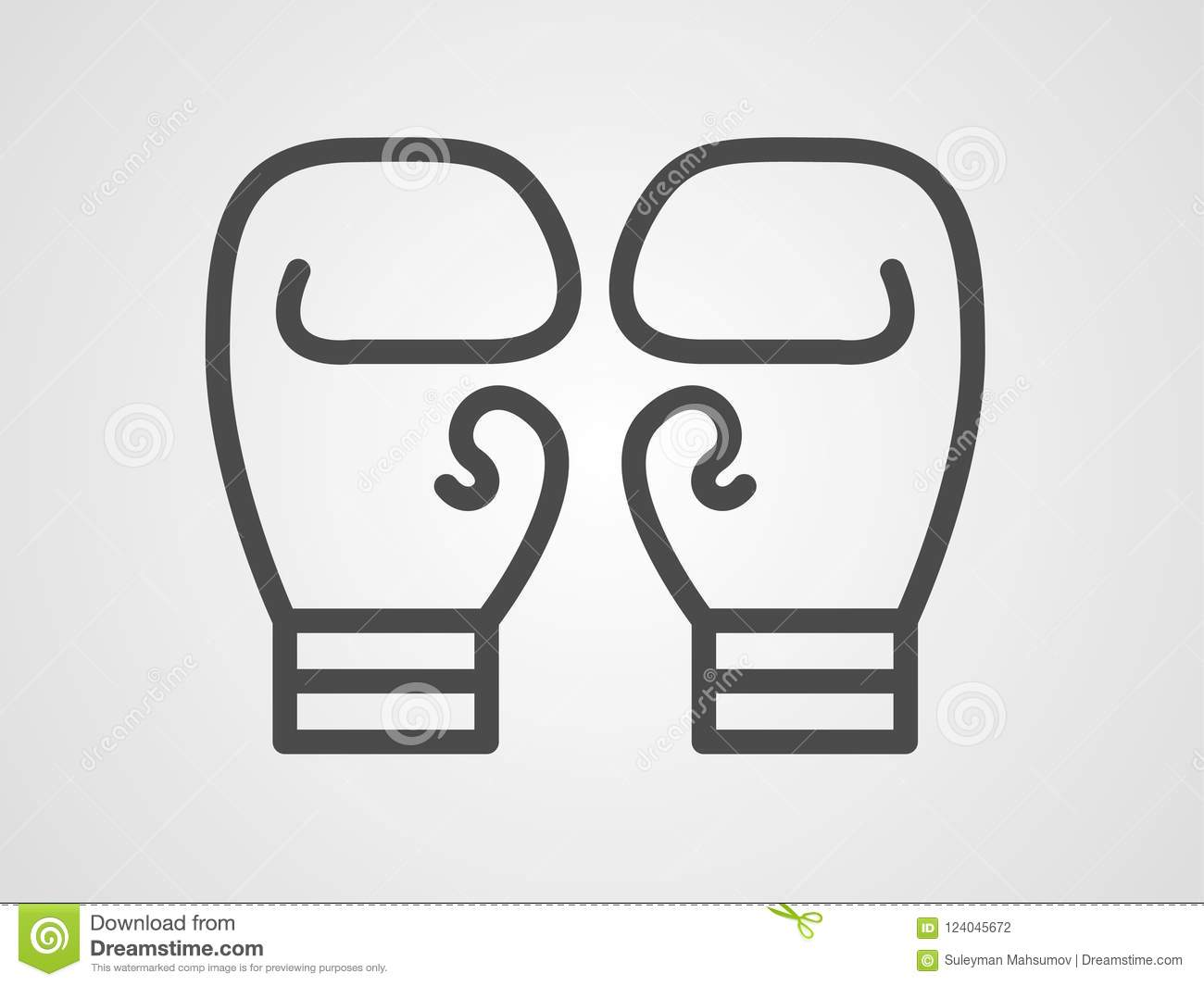boxing gloves icon sign symbol stock vector illustration of