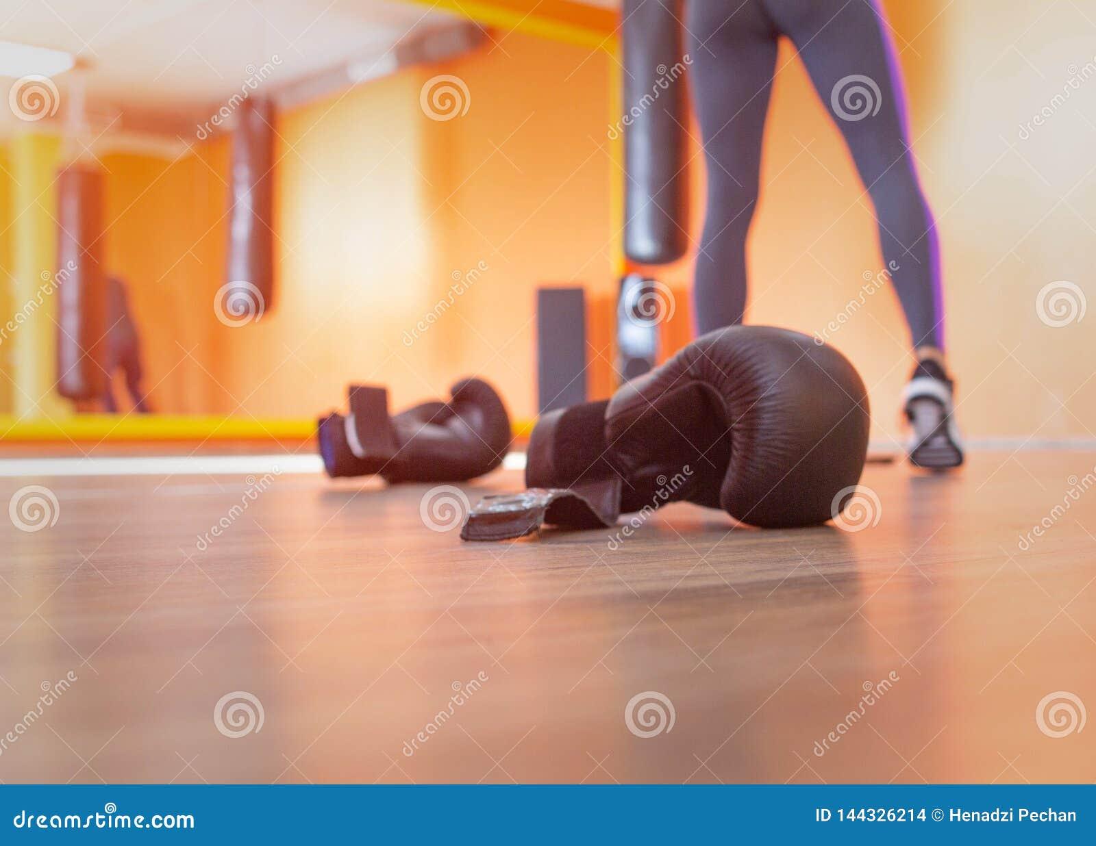 Kick Boxing Young Woman Royalty-Free Stock Photo ...
