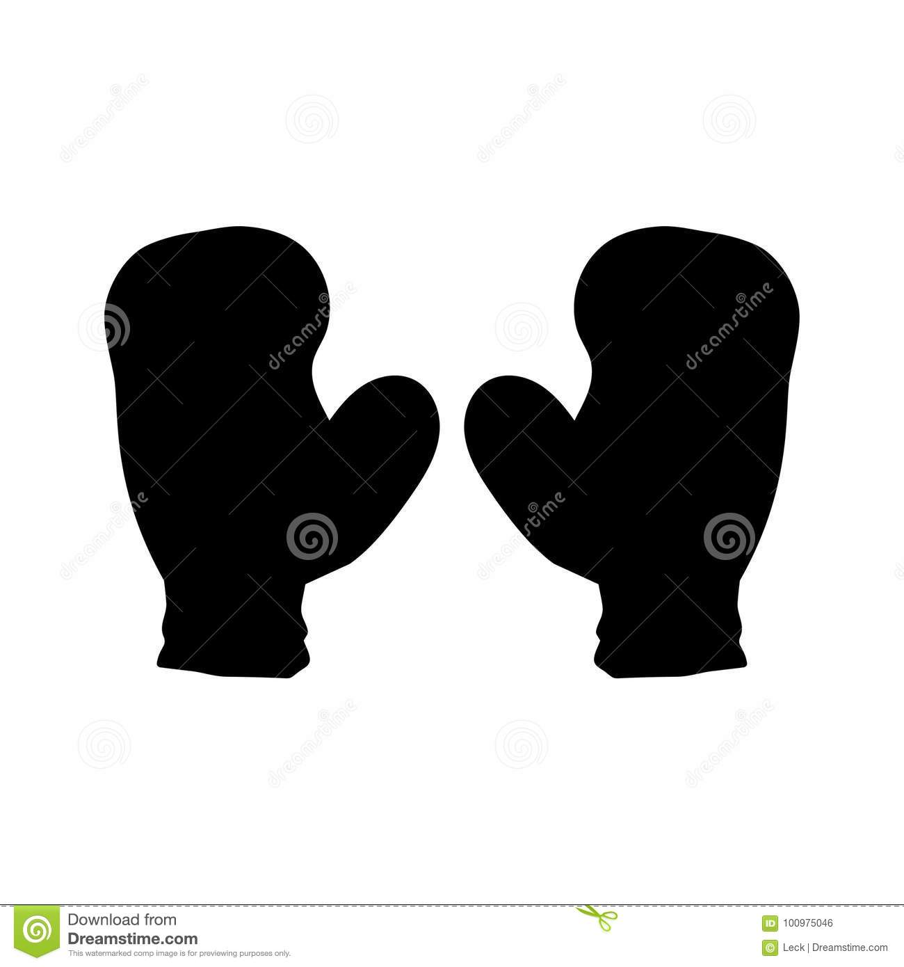 boxing gloves silhouette stock vector illustration of vector