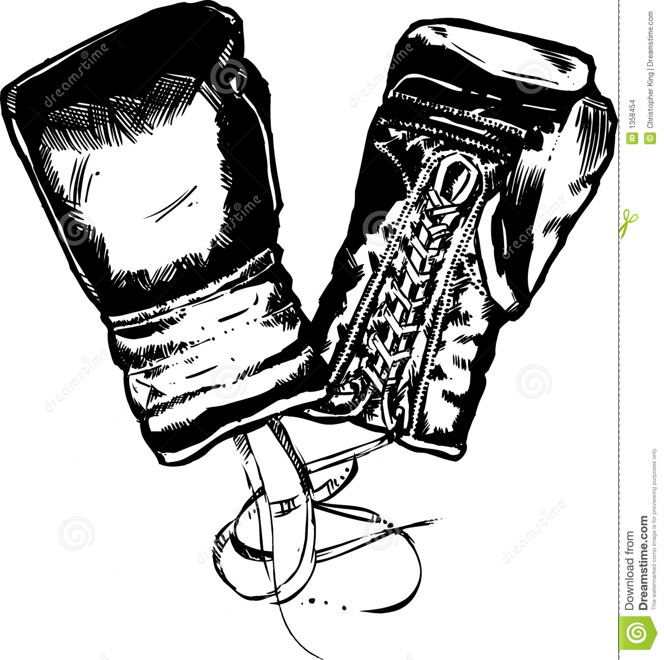 Boxing Gloves Vector Illustration Stock Images - Image