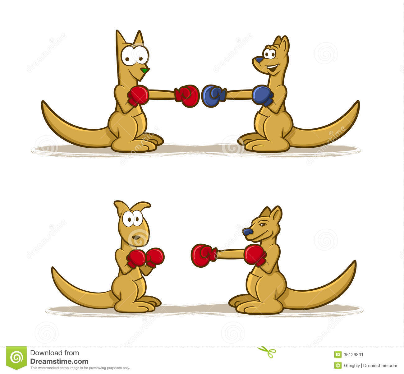 Boxing Kangaroo Stock Vector - Image: 56712254