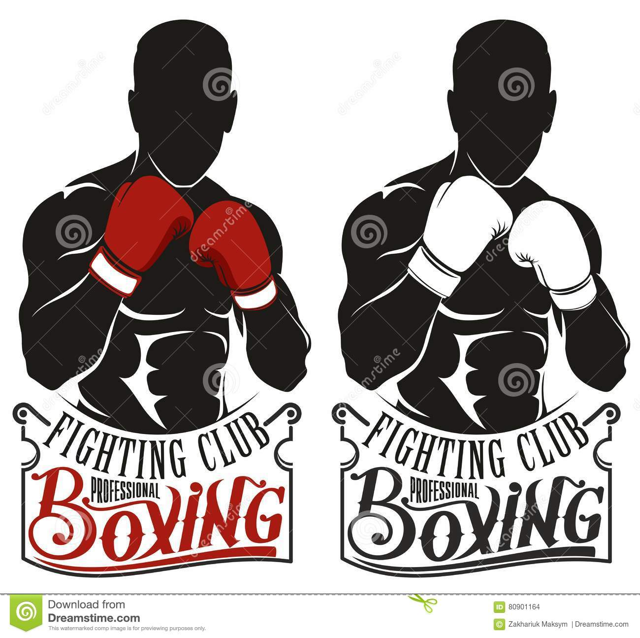 Boxing logo stock vector. Illustration of anatomy, black ...