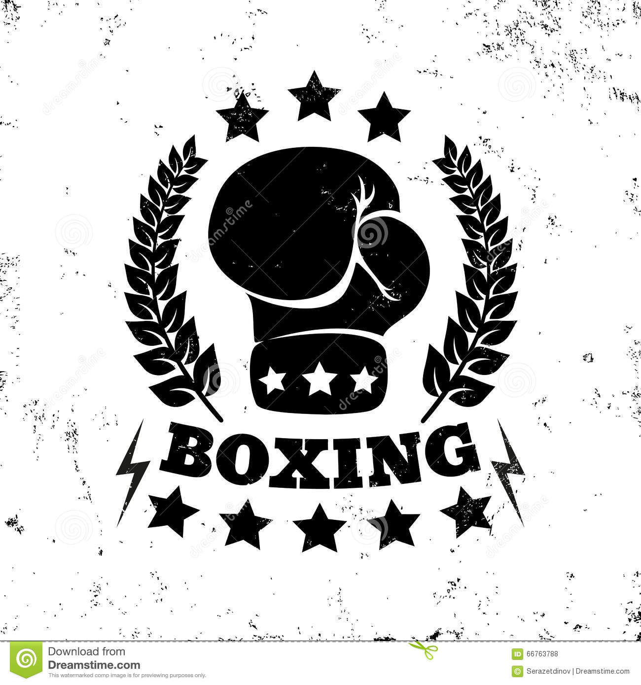 boxing logo stock vector image 66763788