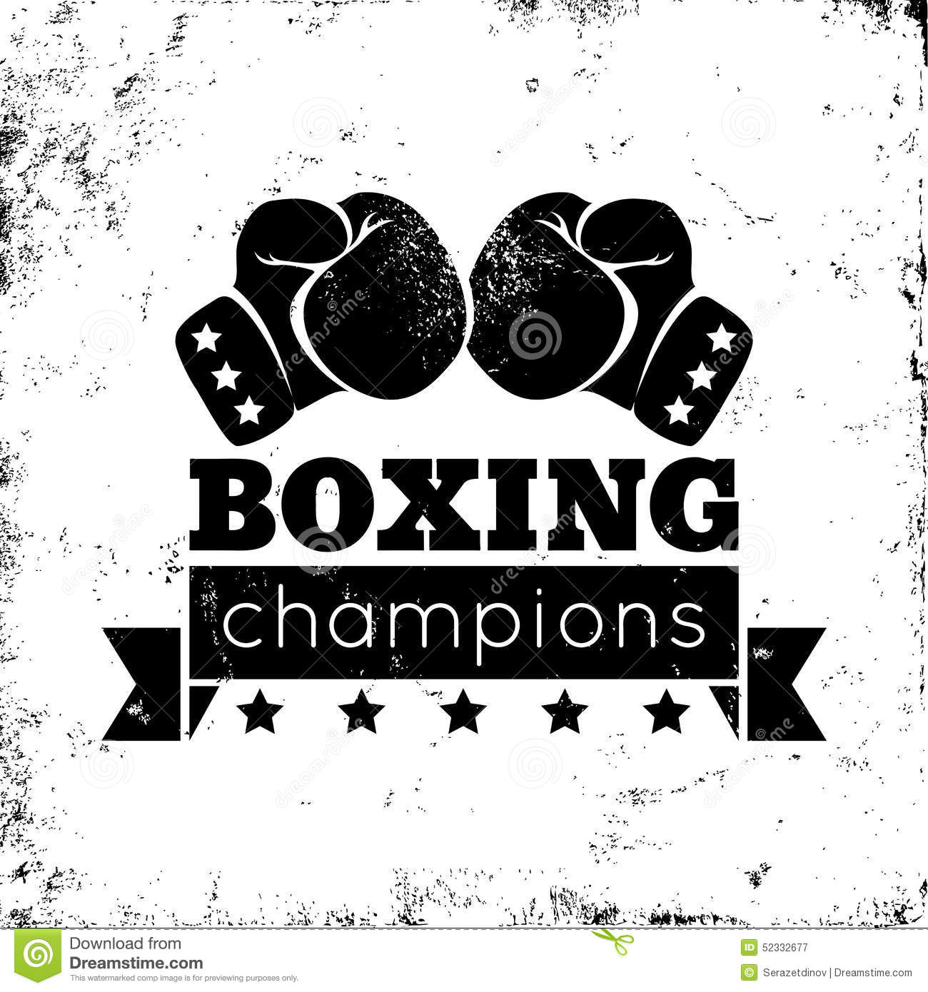 boxing logo stock vector image 52332677