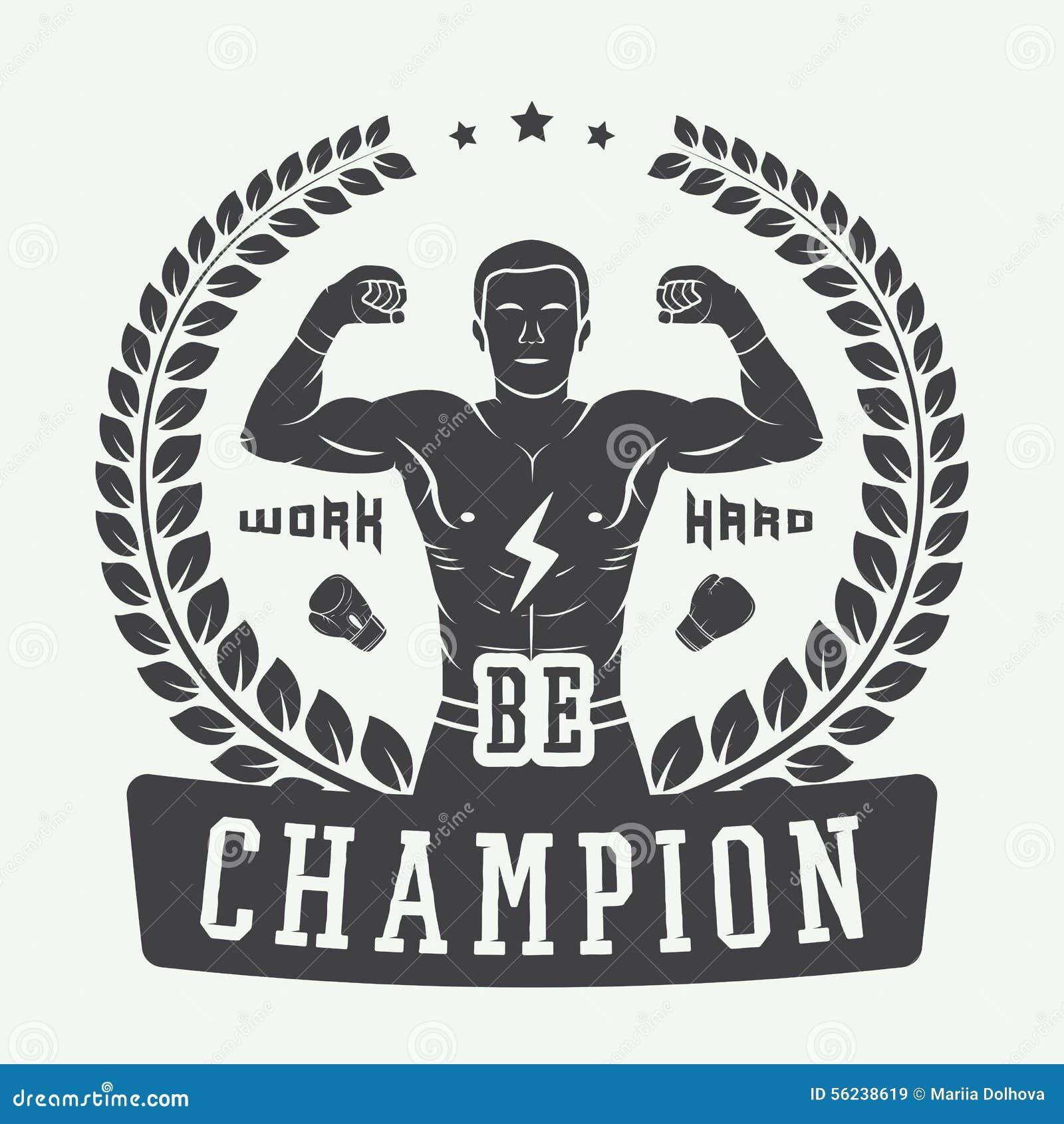 Vintage Logo For Boxing Vector Illustration ...
