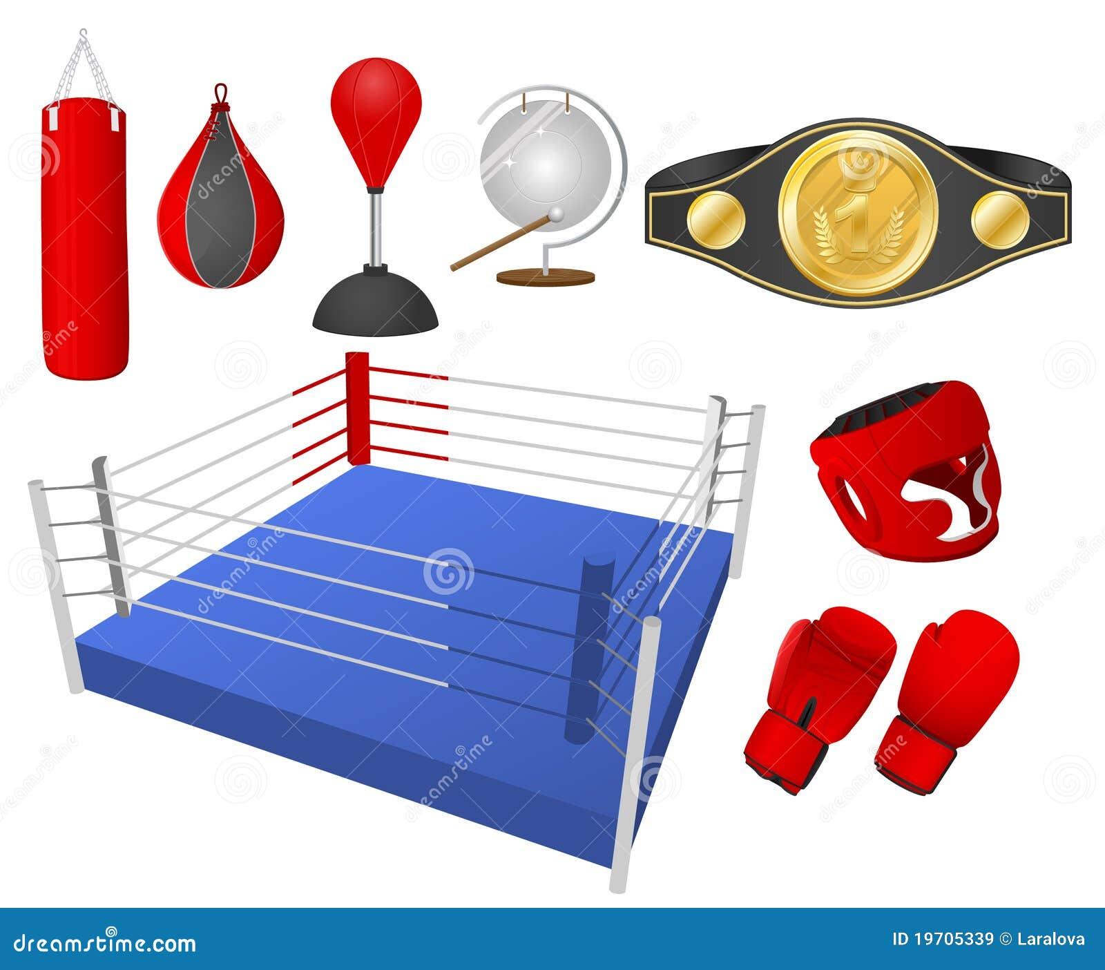 Boxing Objects Cartoon Vector
