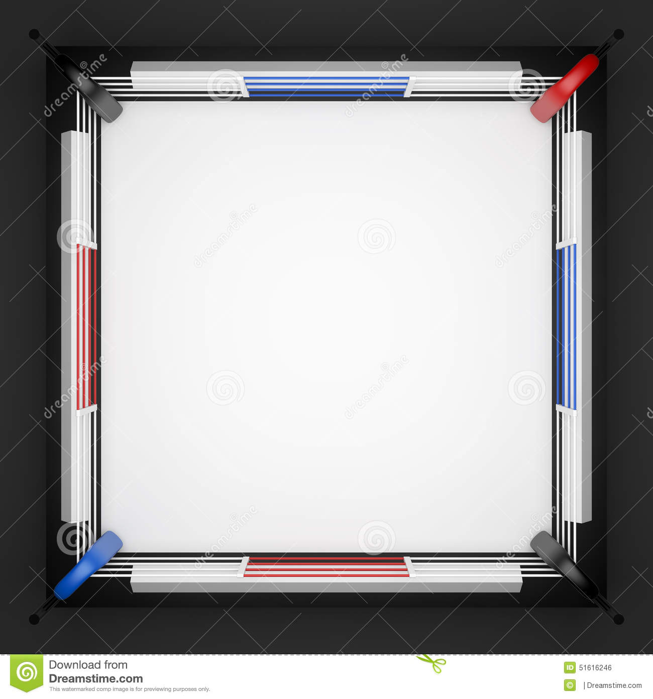 Boxing Ring. Top View Stock Illustration - Image: 51616246
