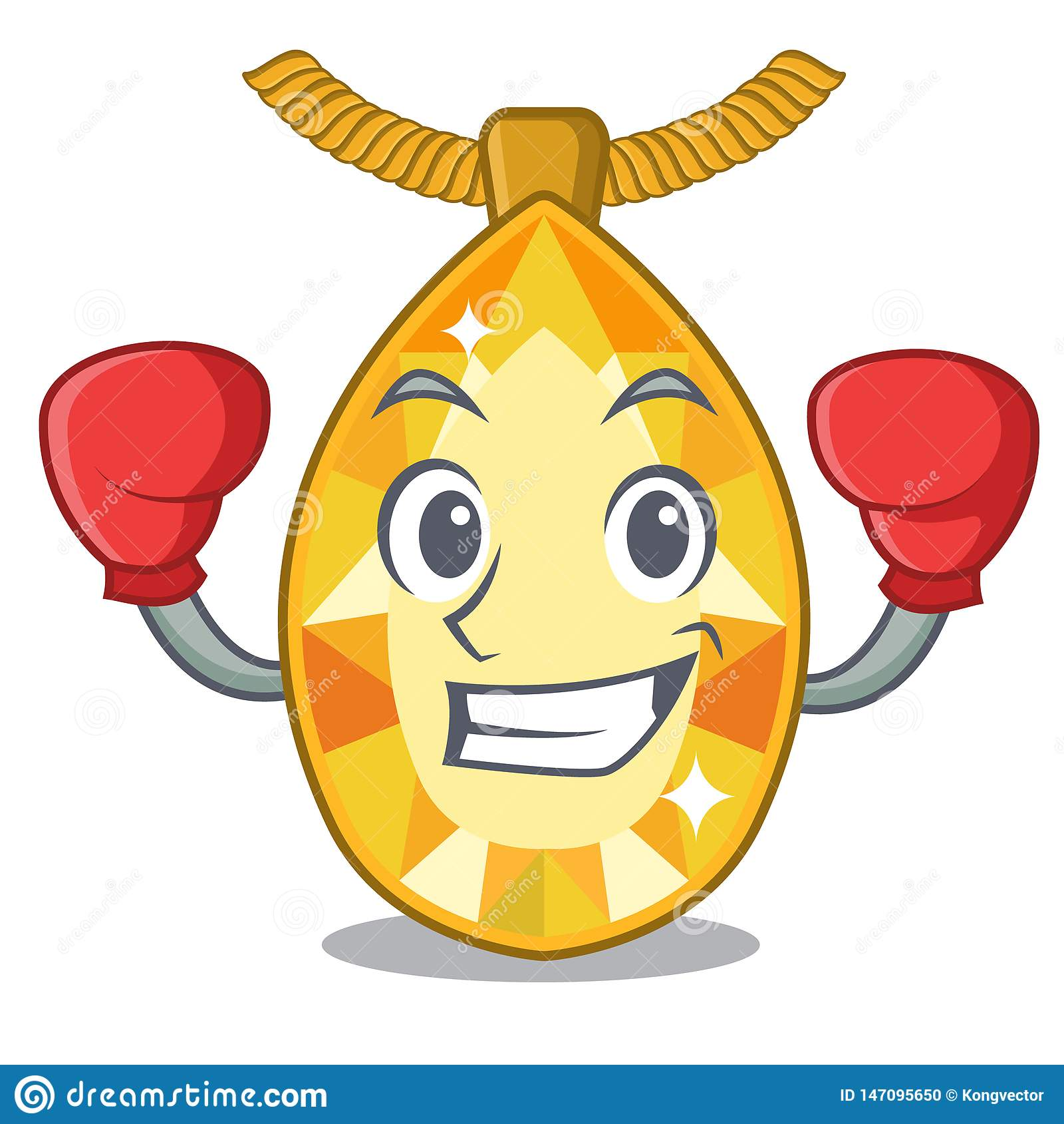 Boxing Topaz Jewelry In The Cartoon Box Stock Vector ...