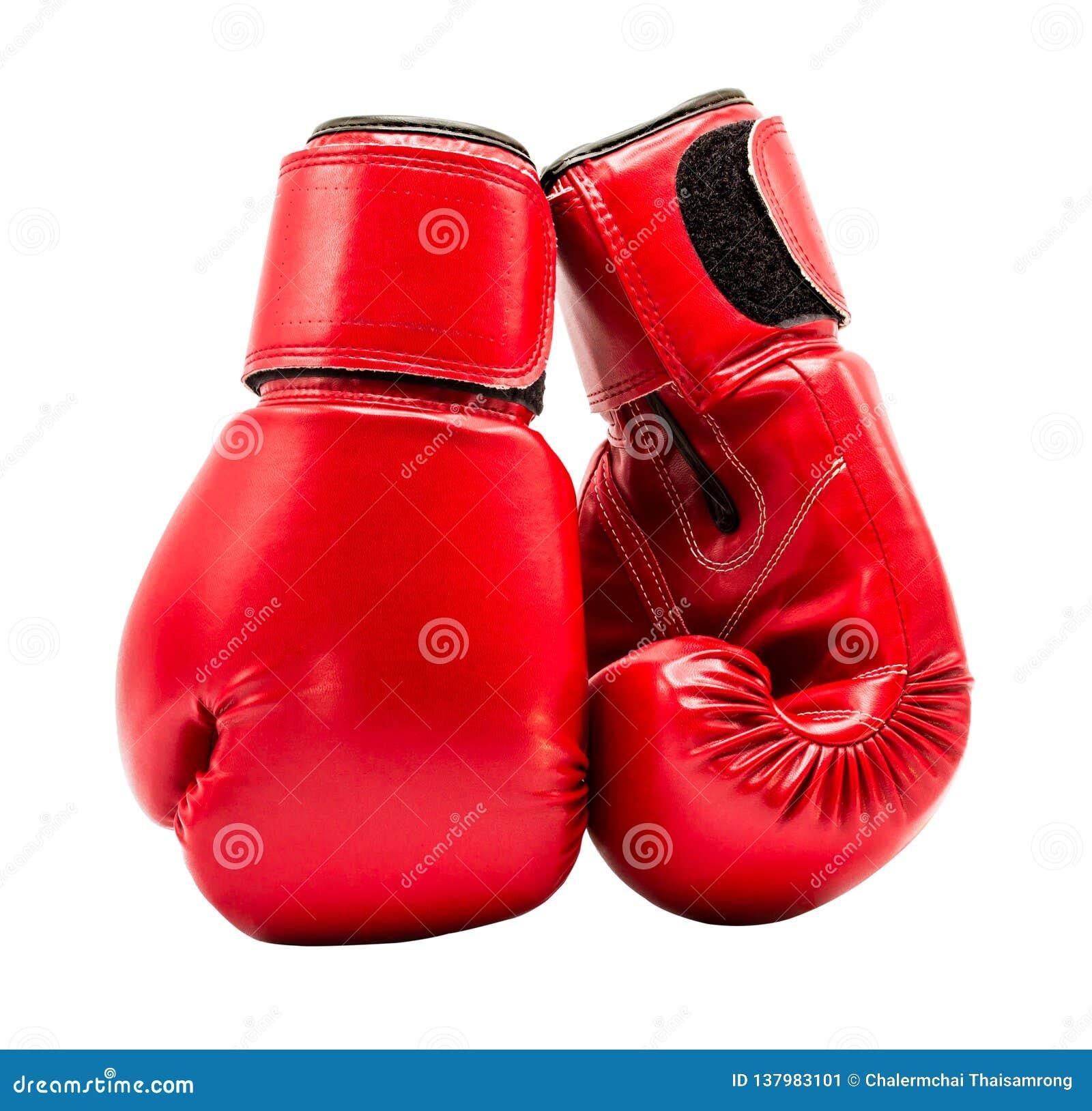Boxninghandske som isoleras på vit bakgrund med urklippbanan