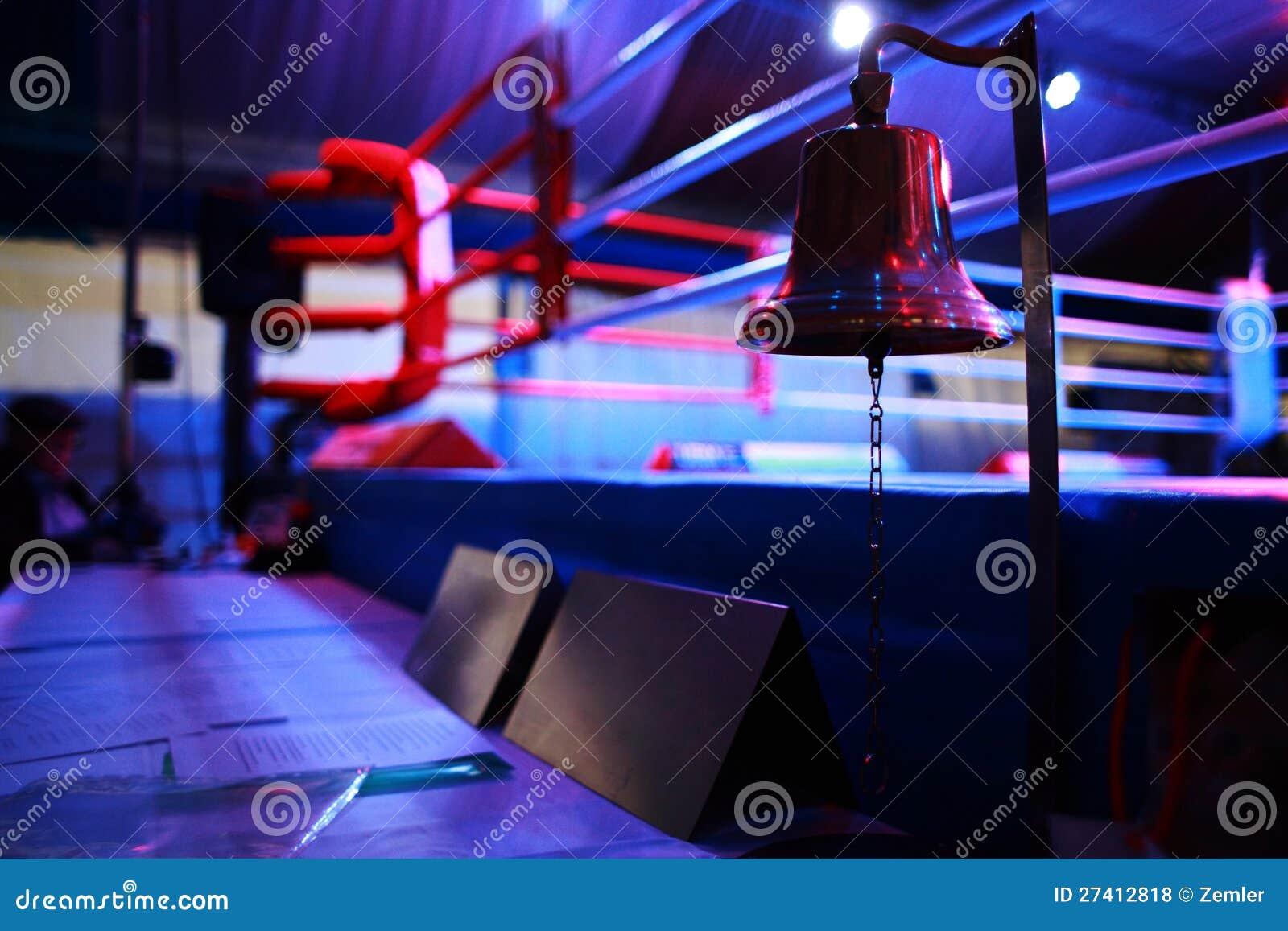 Boxningsring och klocka