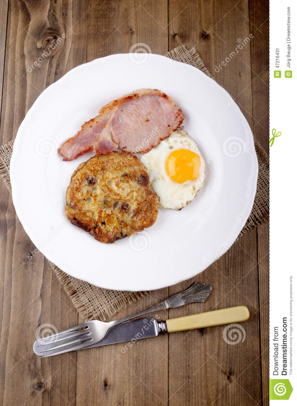 Boxty With Fried Egg And Bacon Stock Photo - Image: 47216431