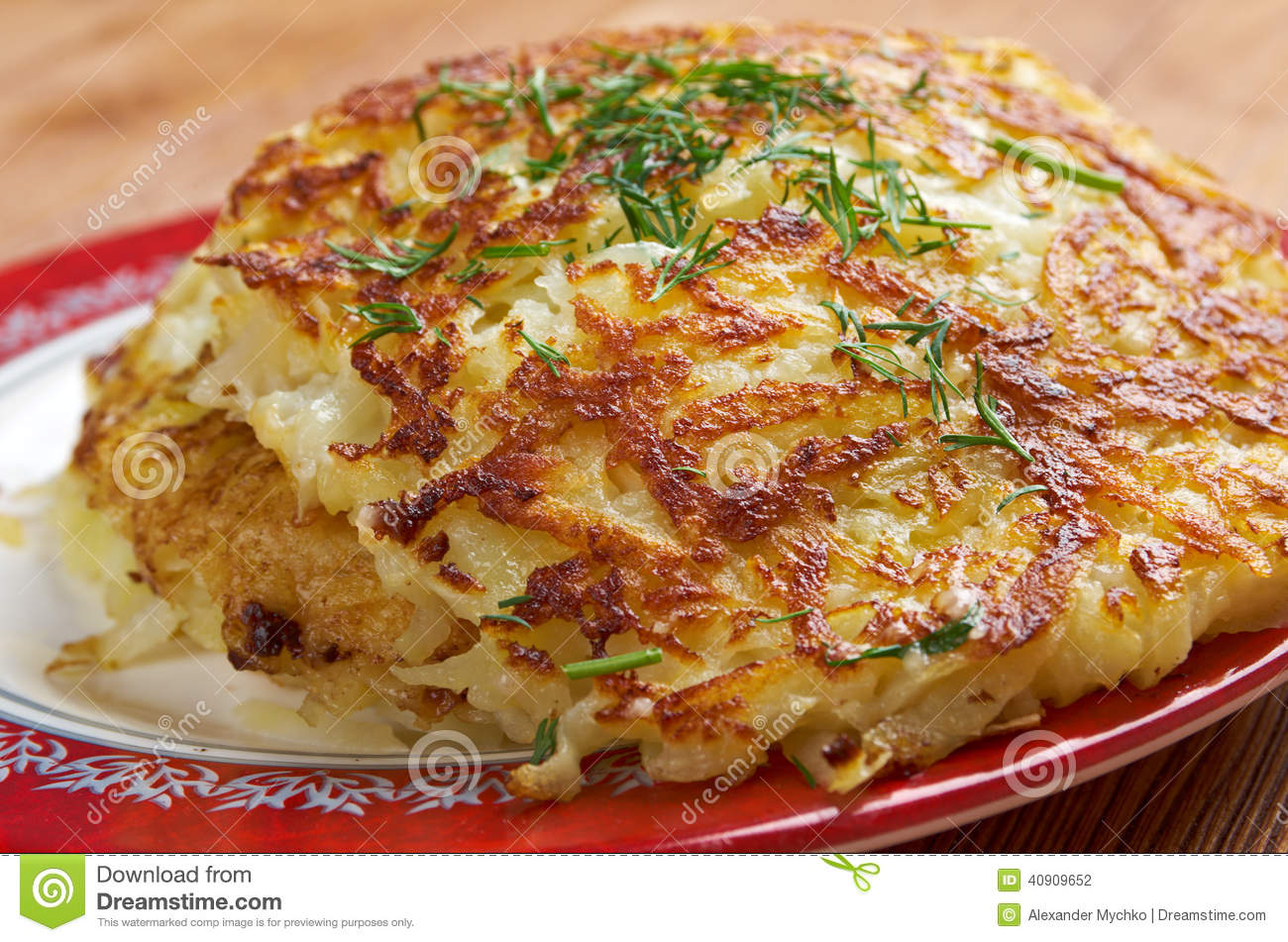 Boxty - traditional Irish potato pancake. fried potato dishes is its ...