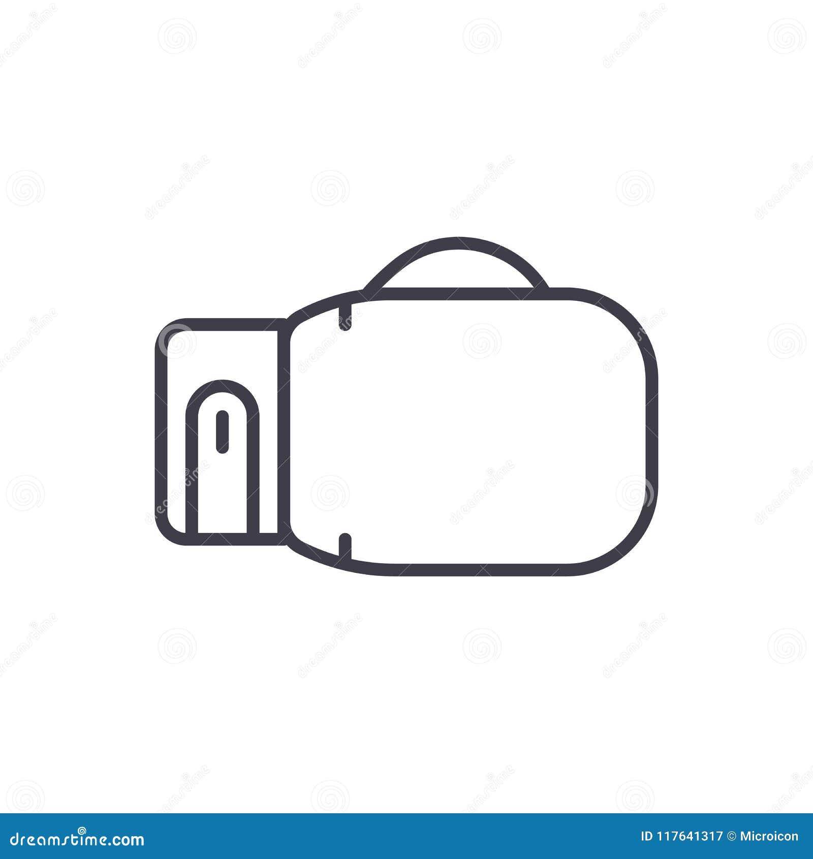 Boxveranstaltungsschwarzikonenkonzept Flaches Vektorsymbol der Boxveranstaltung, Zeichen, Illustration