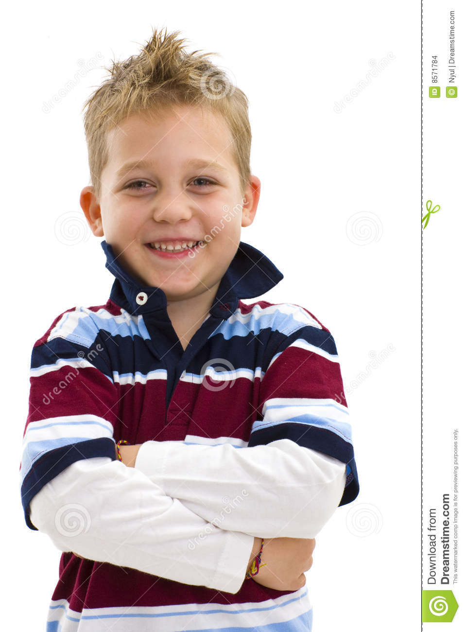 Boy With Arms Crossed Stock Images - Image: 8571784
