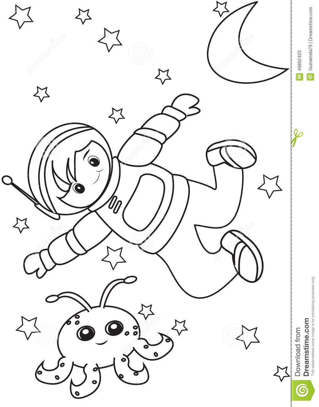 Generous Astronaut Coloring Pages For Kids Gallery - Entry Level ...