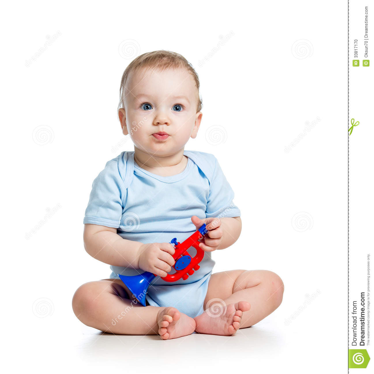 Musical Toys For Toddlers Boys : Boy baby playing toy stock photo image of musical young
