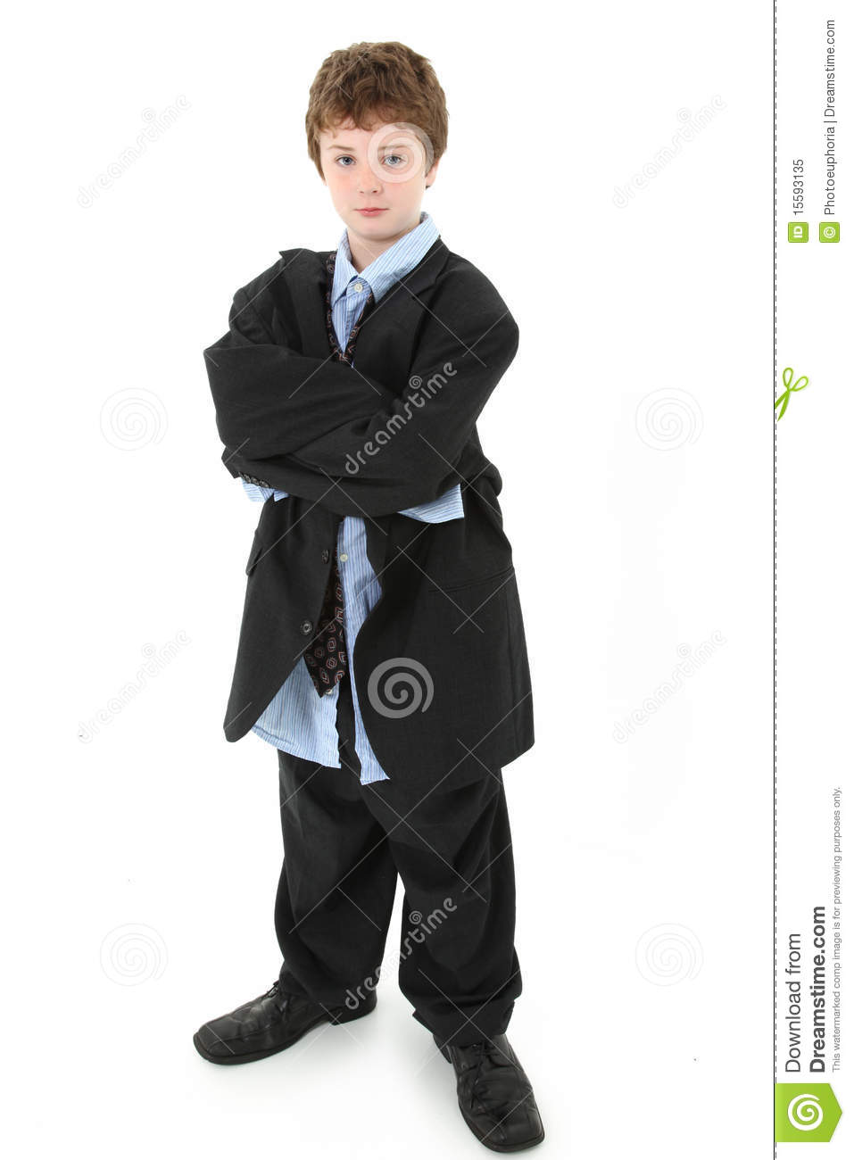 Boy In Baggy Suit Royalty Free Stock Photo Image 15593135