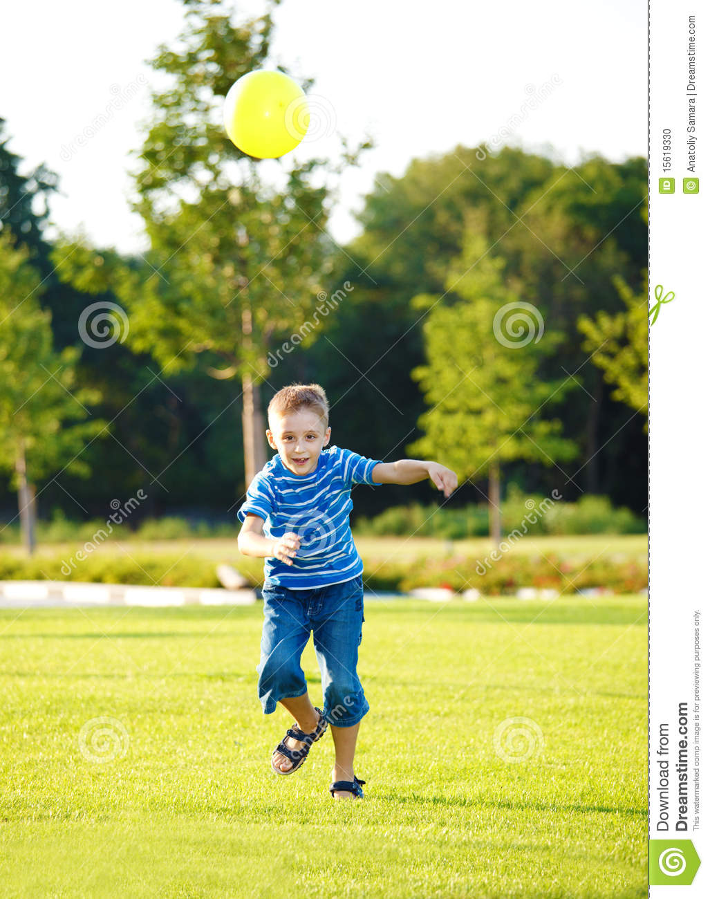 Boy with ball