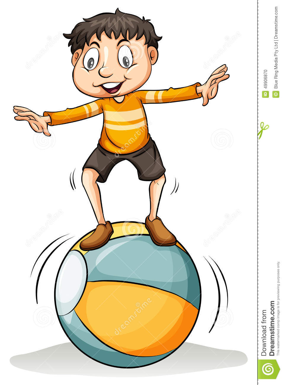 Boy On The Ball Stock Vector - Image: 49906870