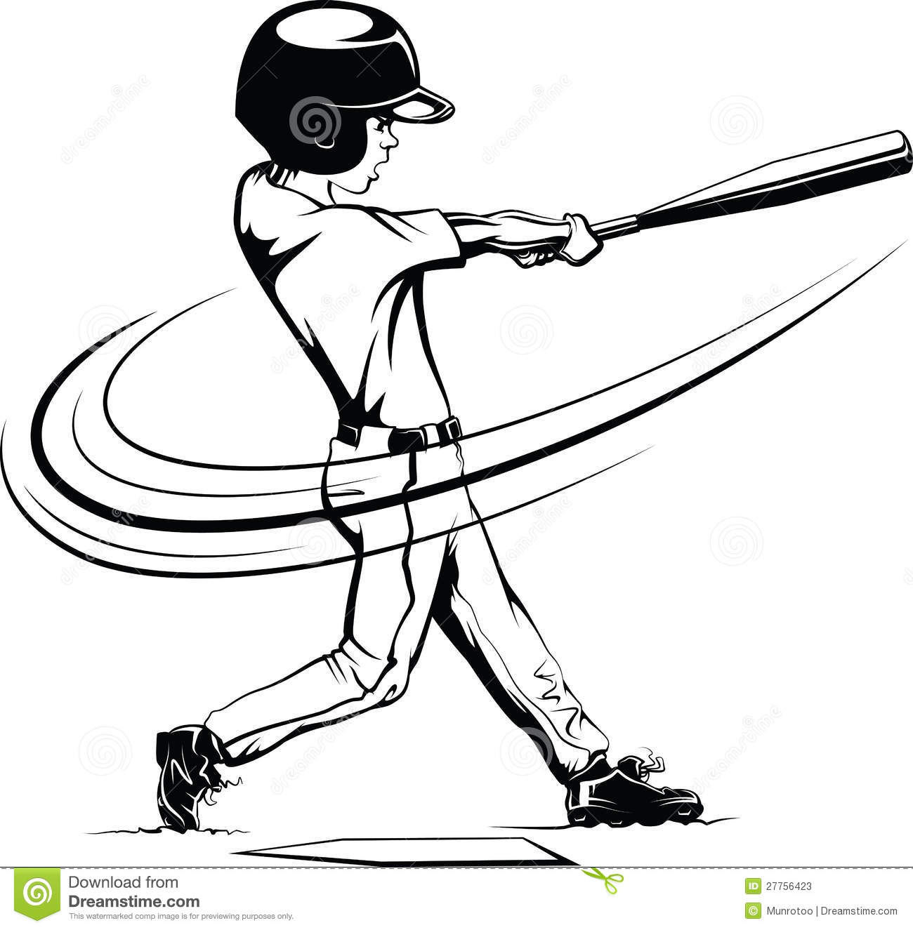 boy batting in a baseball game stock image