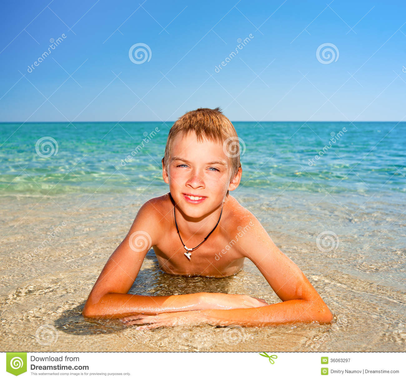 Boy On A Beach Royalty Free Stock Photography Image