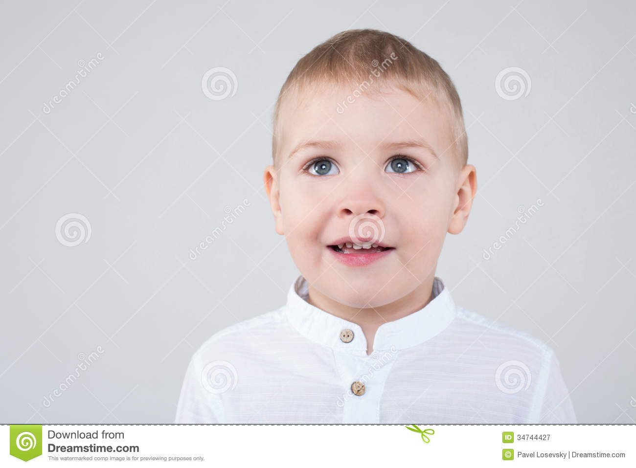 Download Boy With Beautiful Eyes Looking Into The Distance Stock Illustration - Illustration of small, little: 34744427