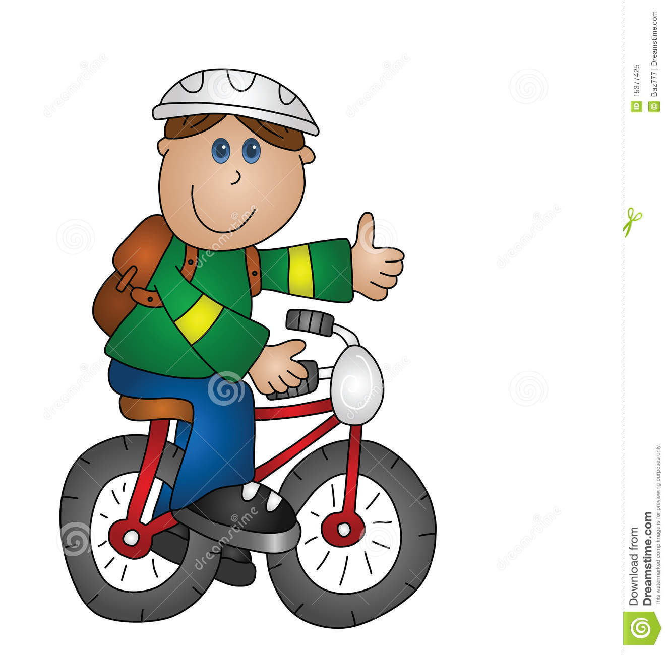 Boy On A Bicycle Royalty Free Stock Photo - Image: 15377425