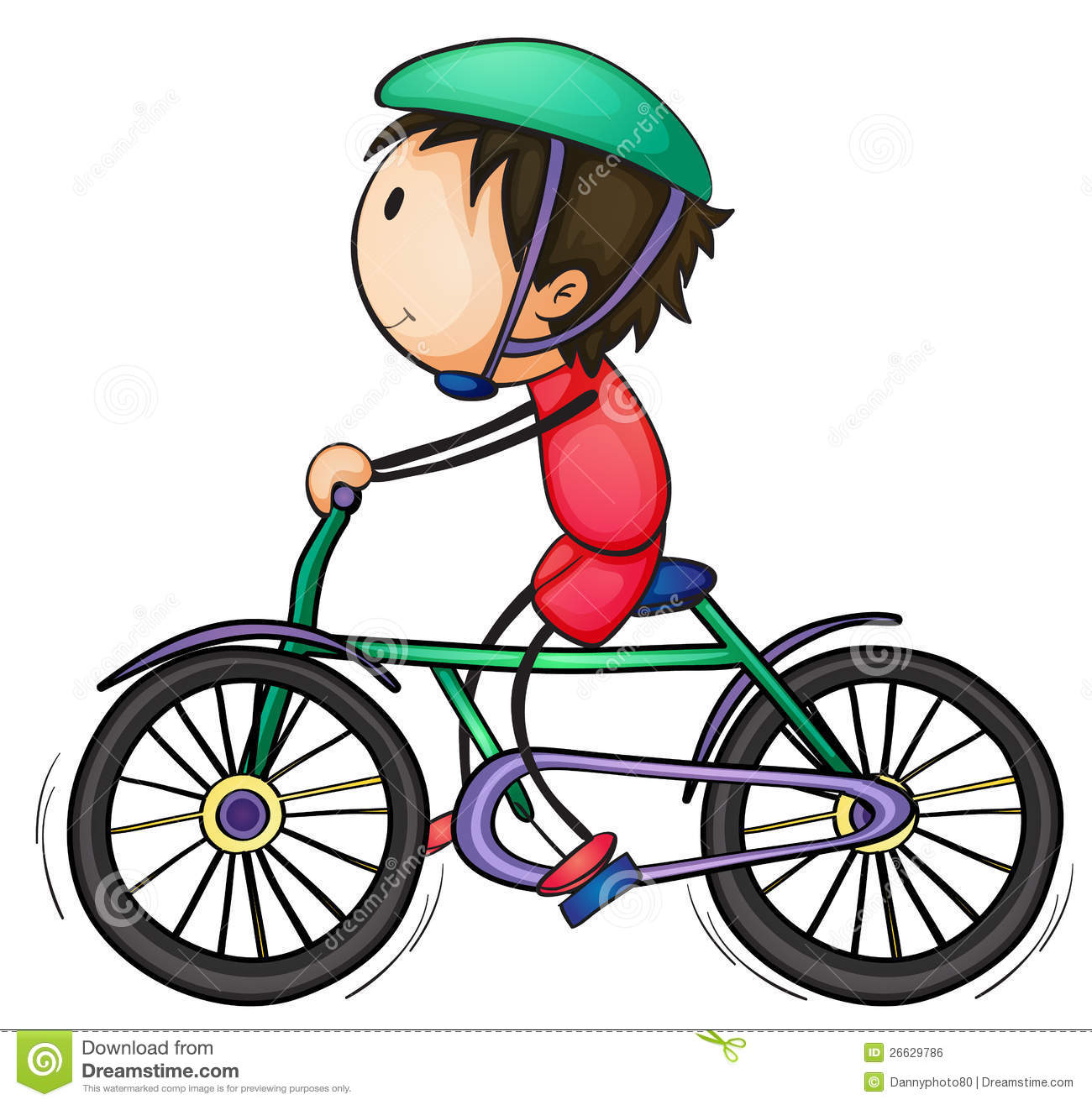 Boy And Bicycle Royalty Free Stock Image - Image: 26629786