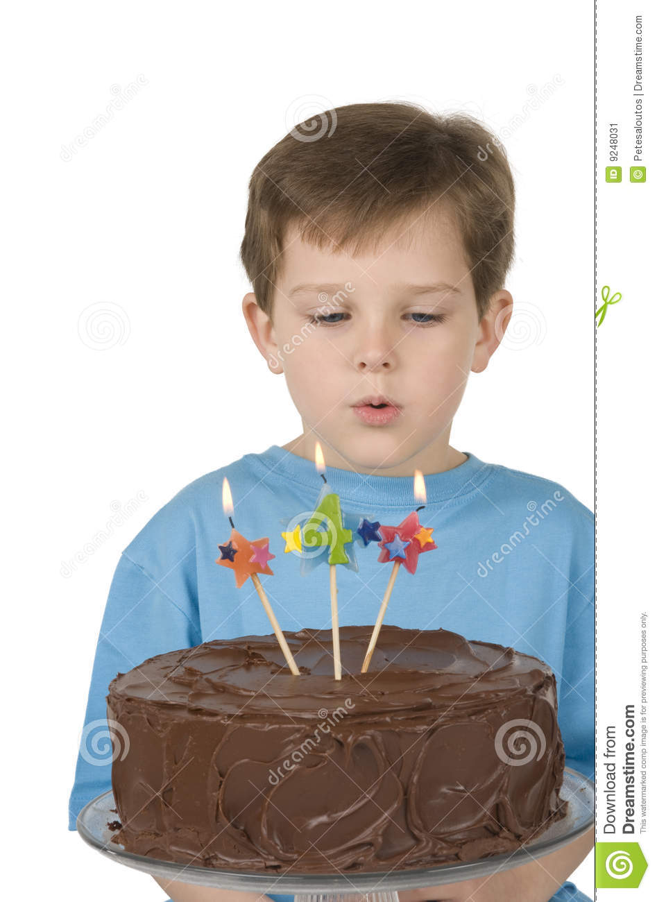 Boy With Birthday Cake Stock Image Image Of Icing Baked