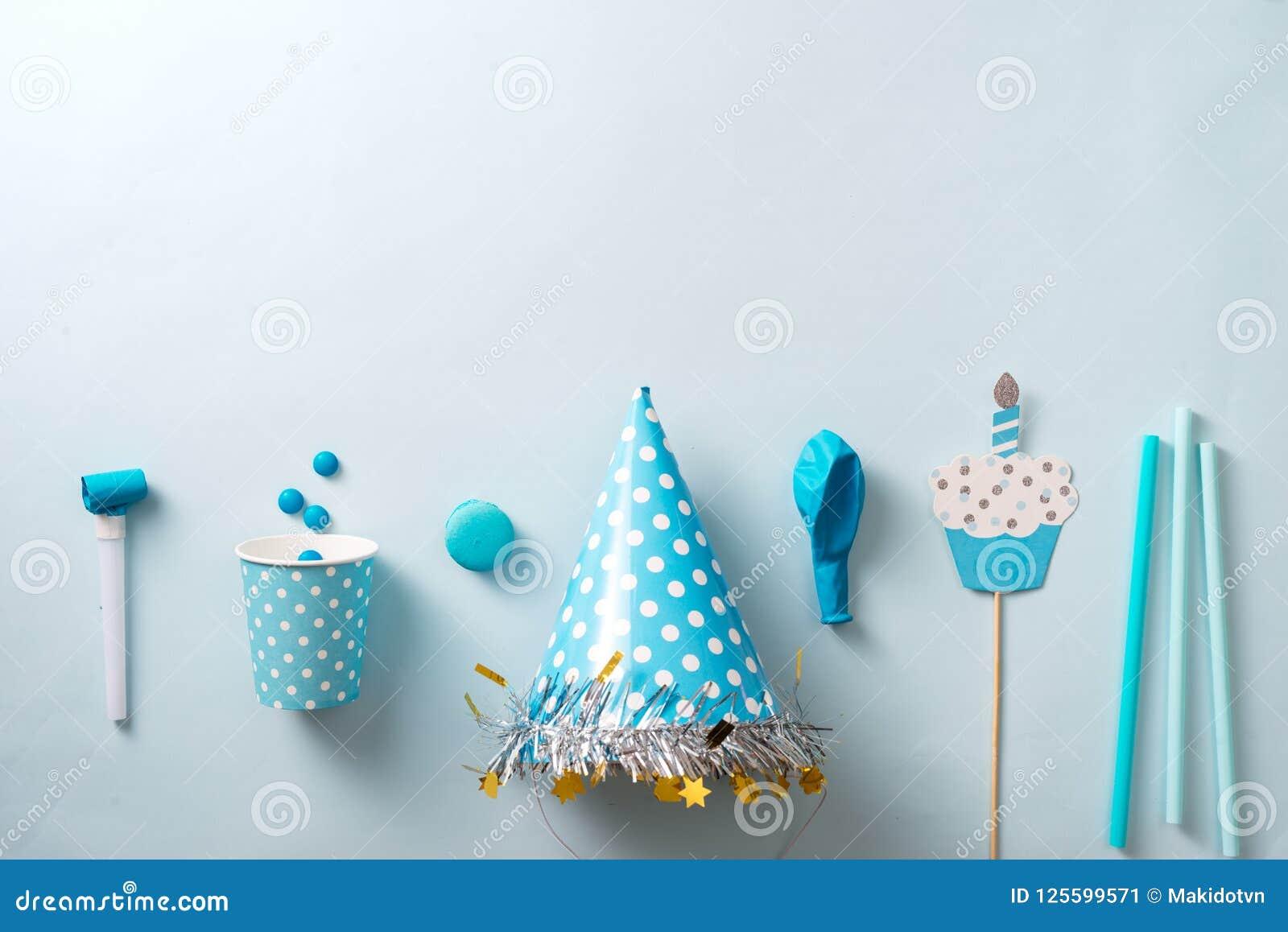 Boy Birthday Decorations Blue Table Setting