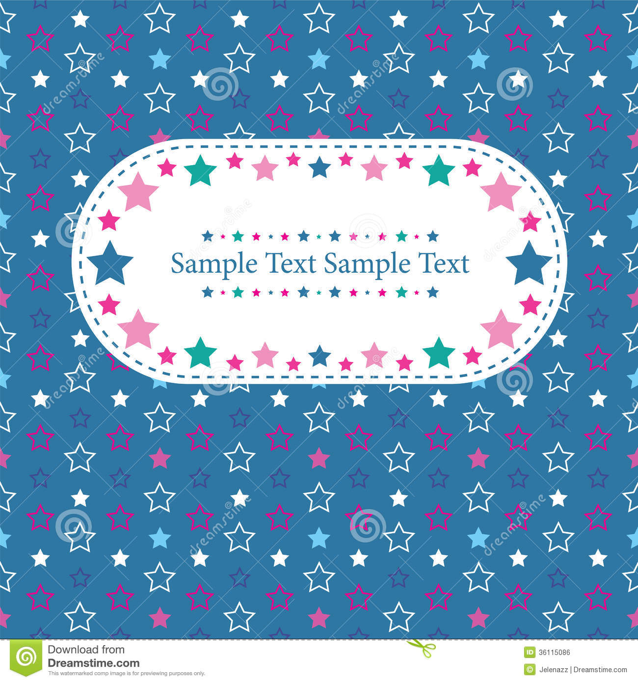 Boy Birthday Stars Greeting Card Stock Vector Illustration Of