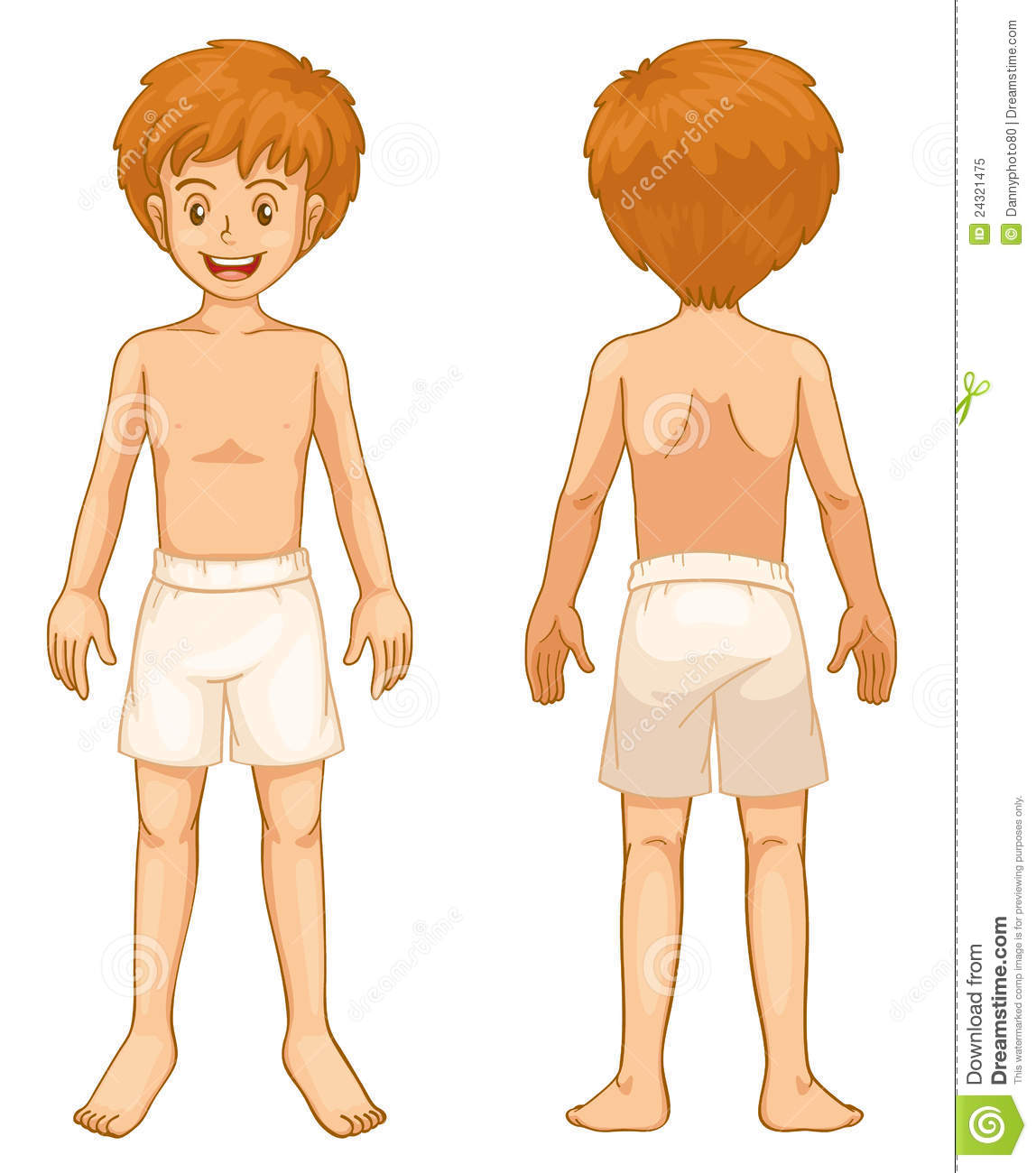 Boy Body Parts Stock Vector Illustration Of Person Male 24321475