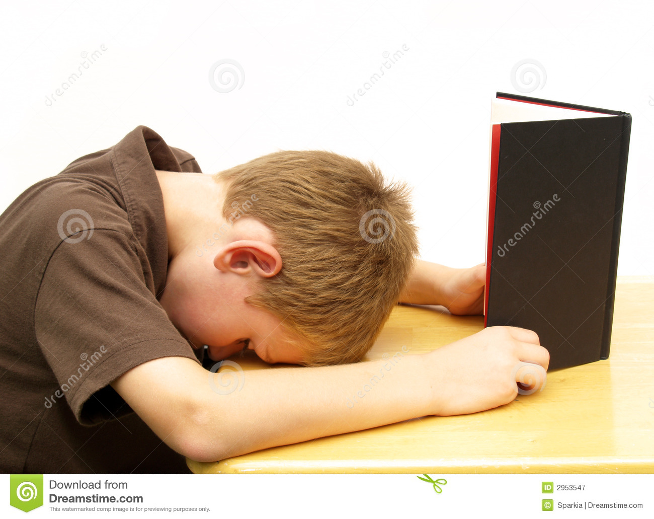Boy Bored With Homework Royalty Free Stock Photography - Image ...