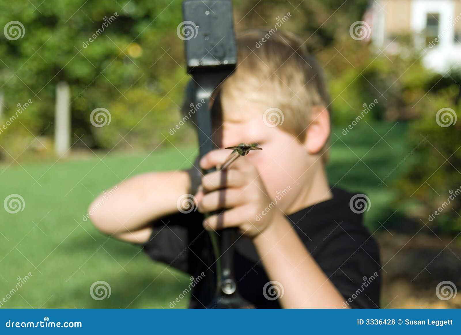 Boy With Bow and Arrow