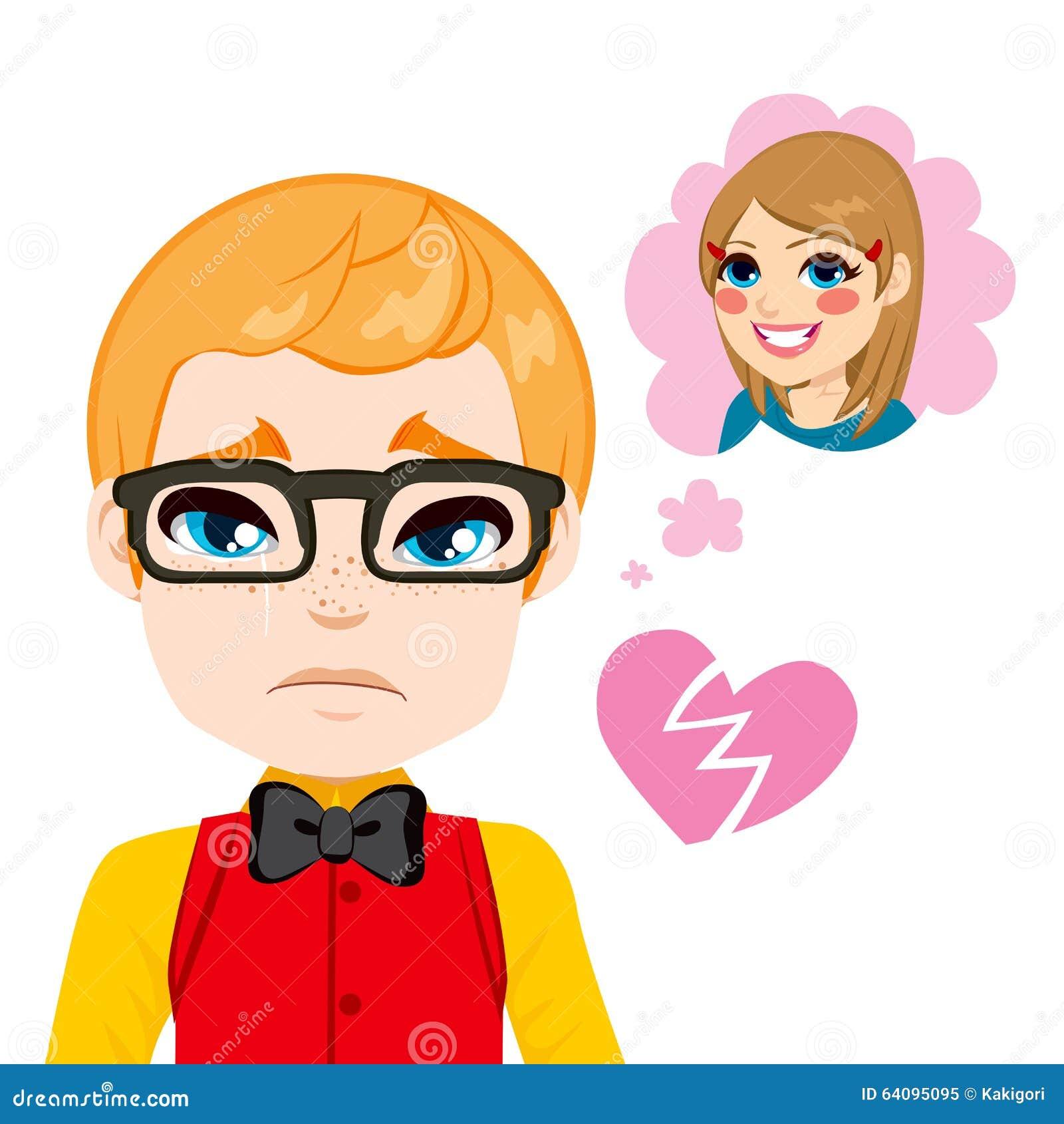 Boy Broken Heart Stock Vector Illustration Of Concept 64095095