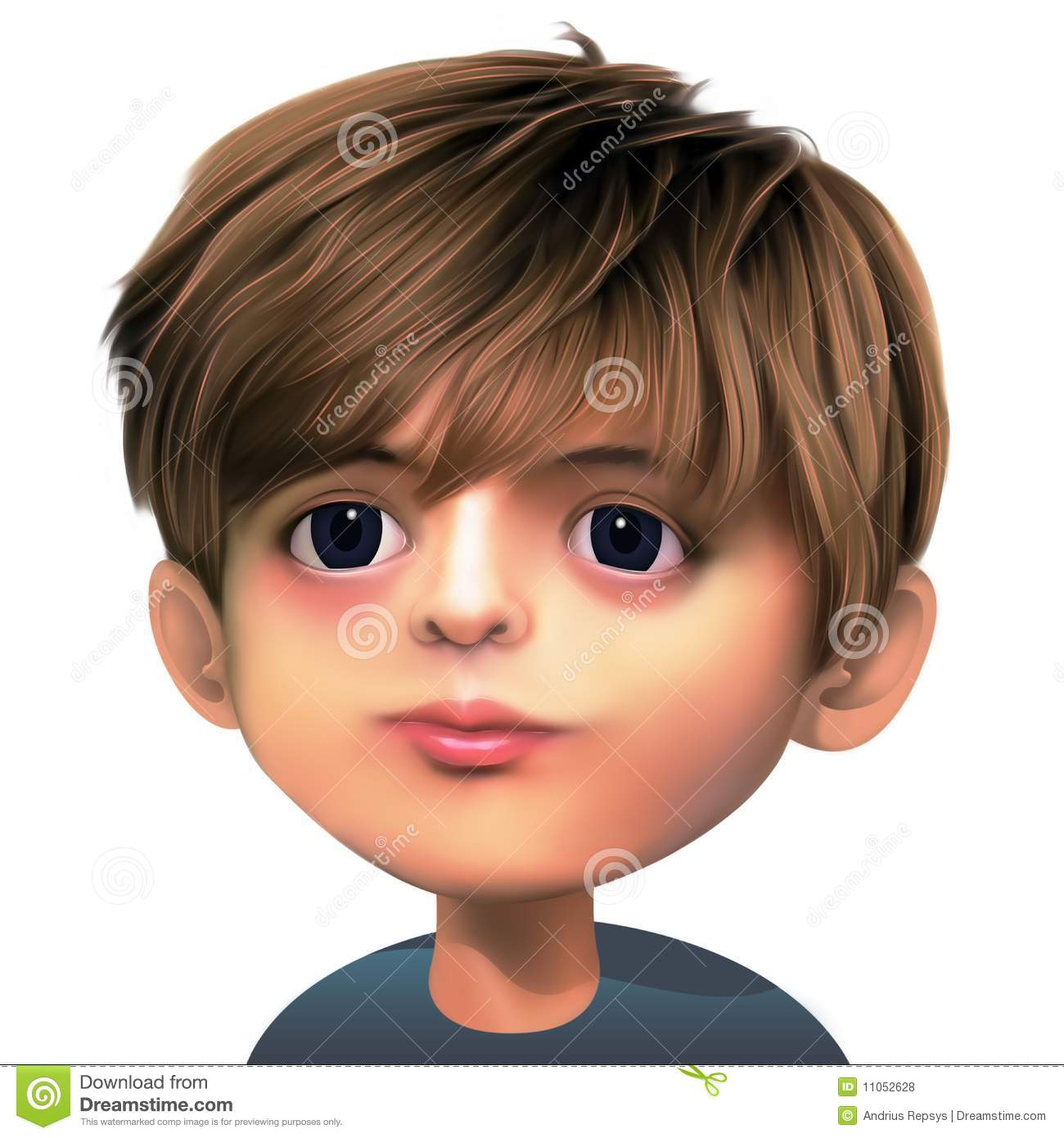 Boy With Brown Hair Royalty Free Stock Photos