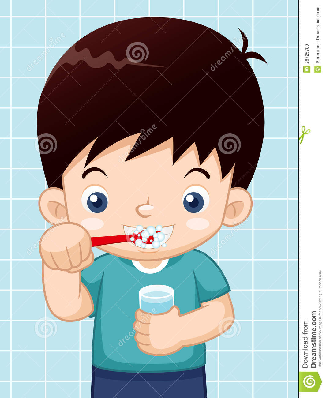 Boy Brushing His Teeth Royalty Free Stock Images - Image ...