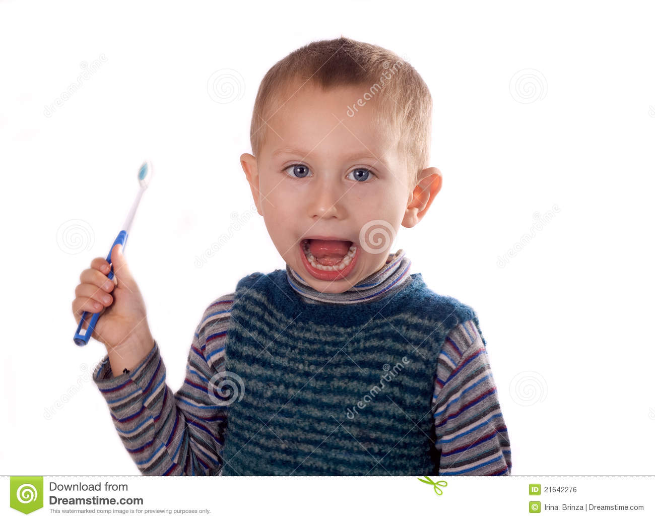 Pictures of Boy Brushing His Teeth