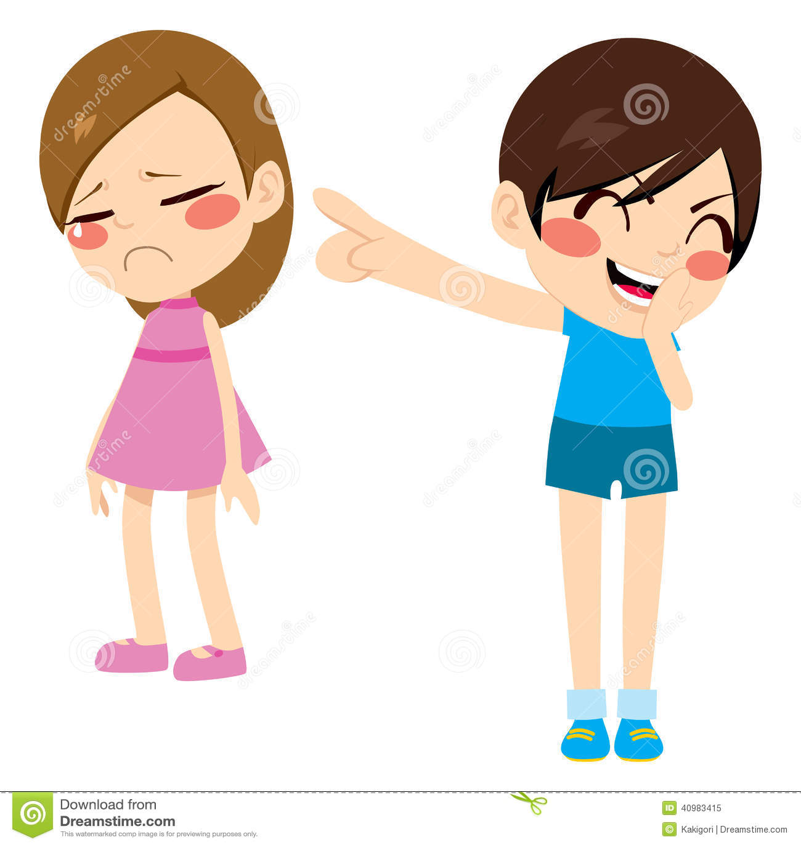 Friends Floor Plan Boy Bullying Girl Stock Vector Image 40983415