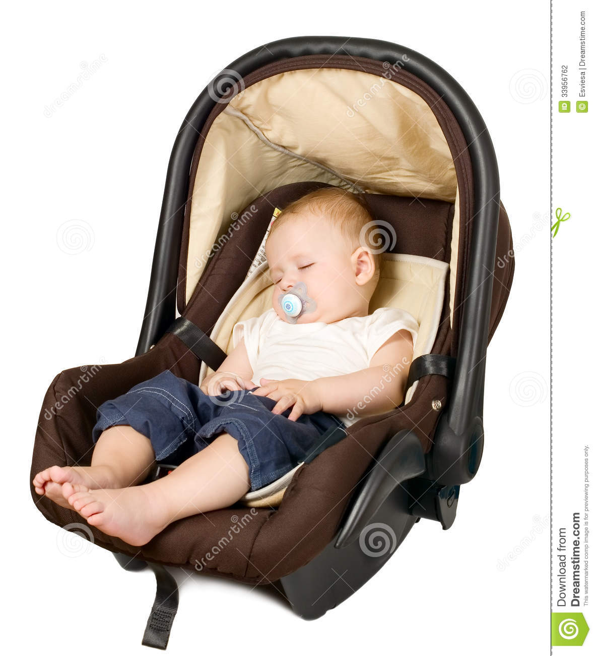 boy in car seat safety concept stock photography image 33956762. Black Bedroom Furniture Sets. Home Design Ideas