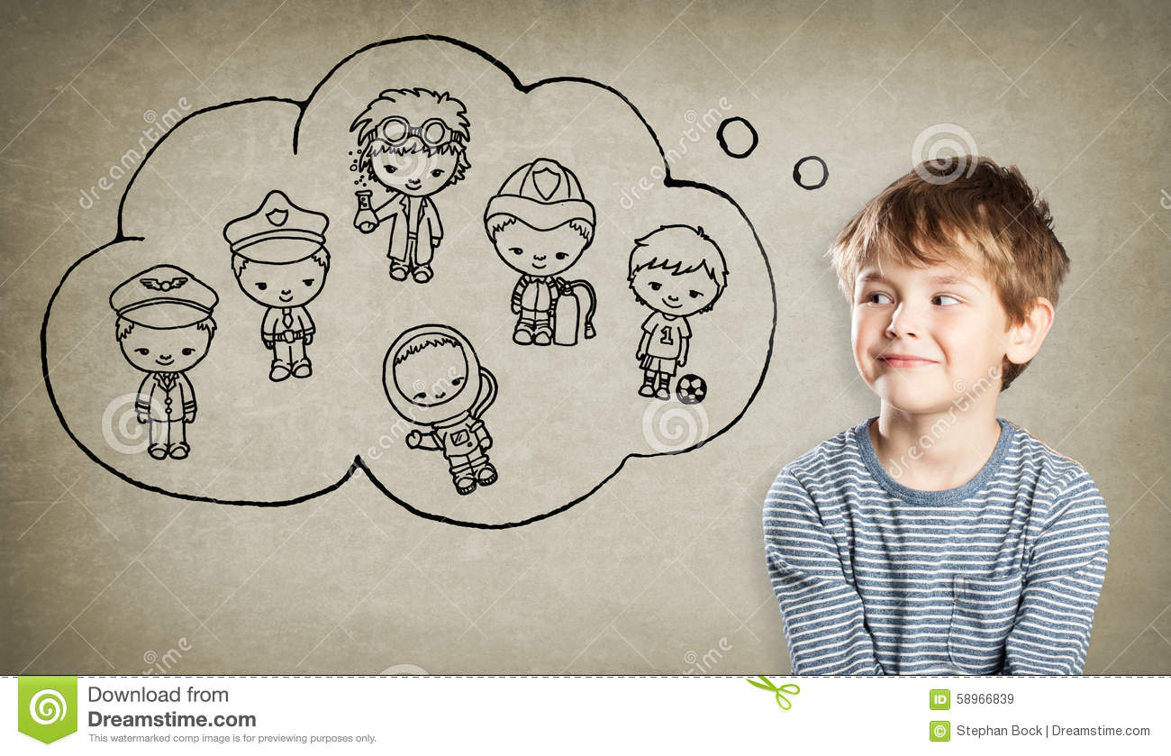 boy career aspiration handdrawn little men stock photo image boy career aspiration handdrawn little men