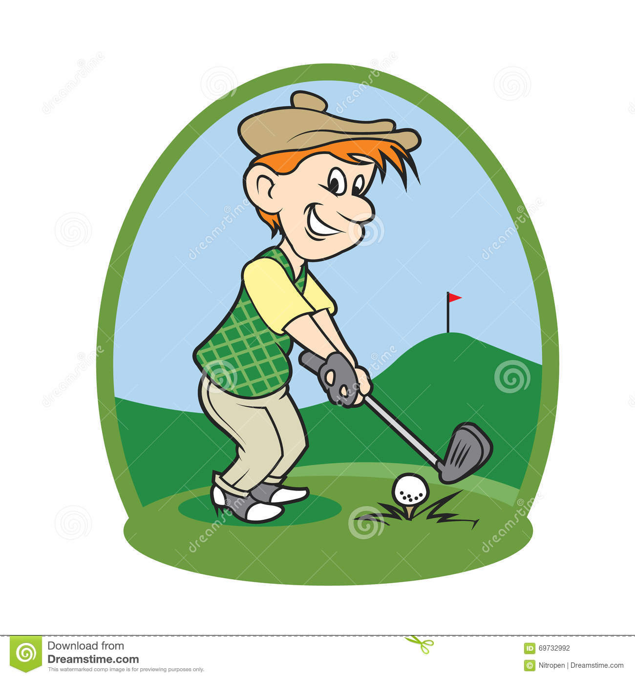 boy cartoon golf player stock vector image 69732992 gopher clip art free golf clipart images