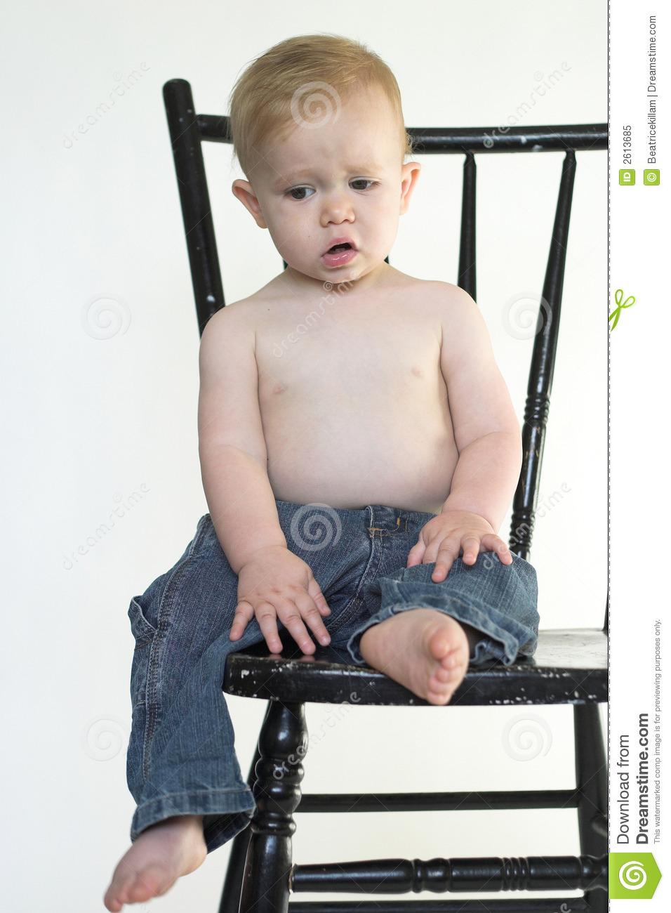 Boy on a chair royalty free stock photo image 2613685 for Toddler sitting chair